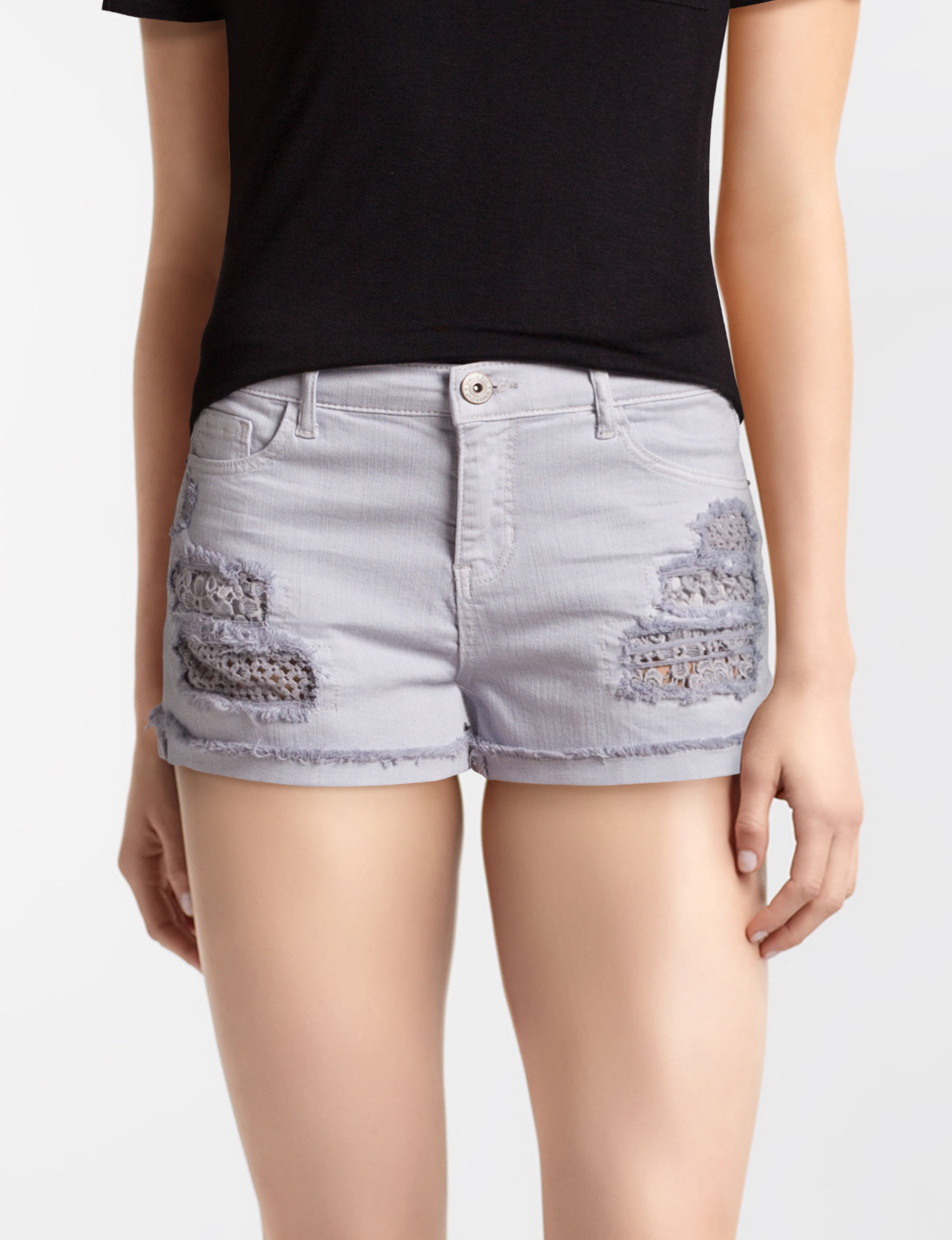 Vanilla Star Purple Denim Shorts