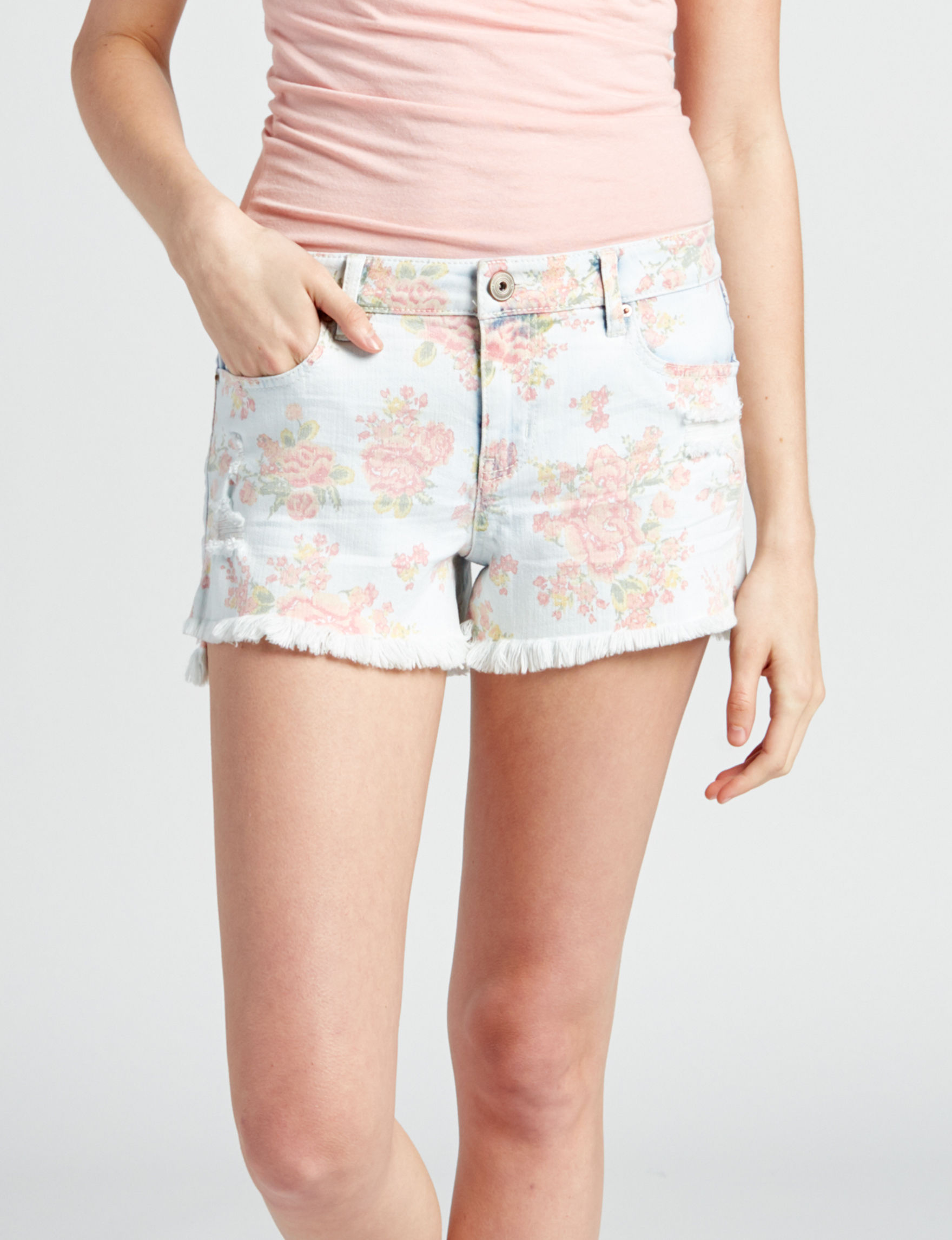 Vanilla Star Light Wash Denim Shorts