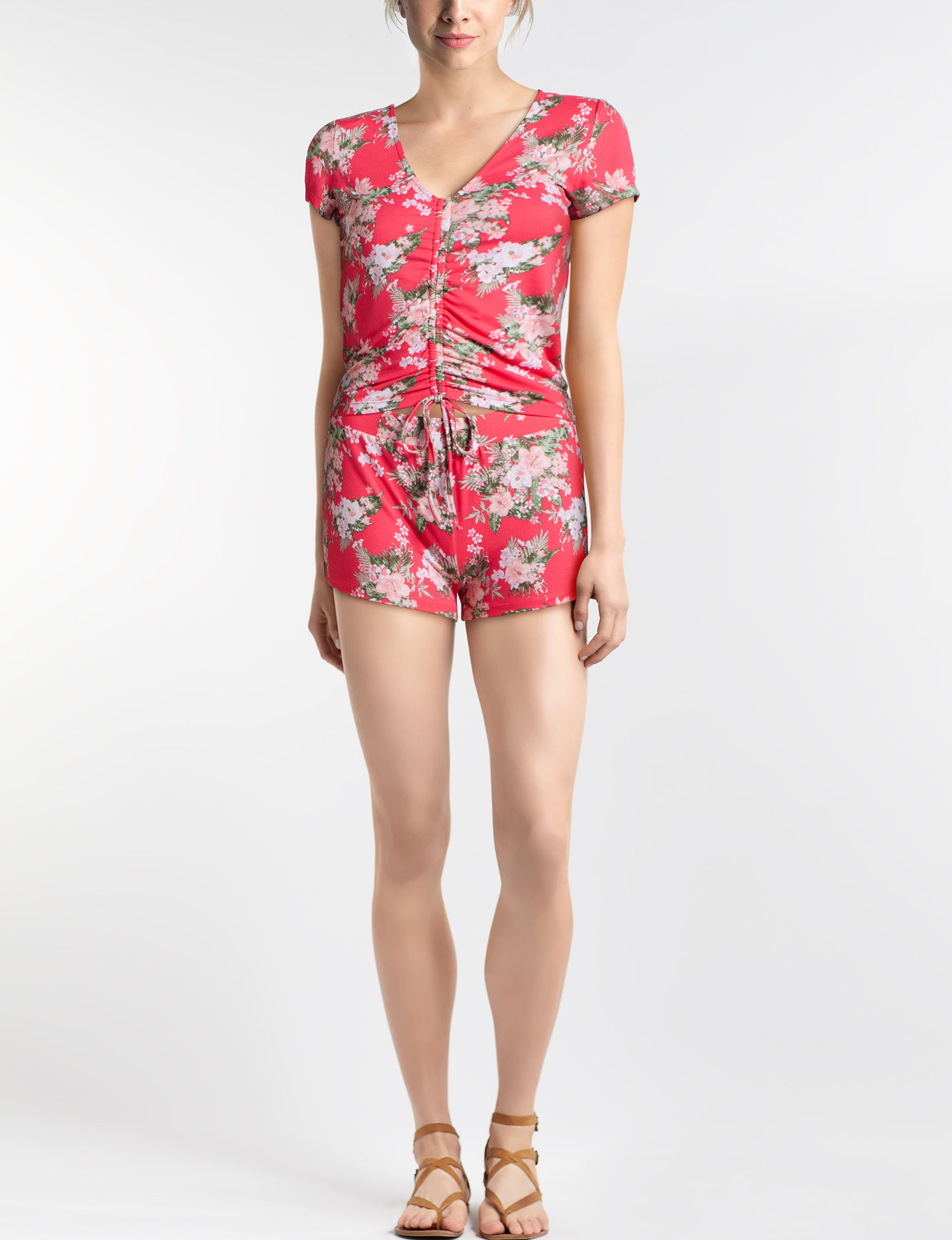 Almost Famous Coral Floral