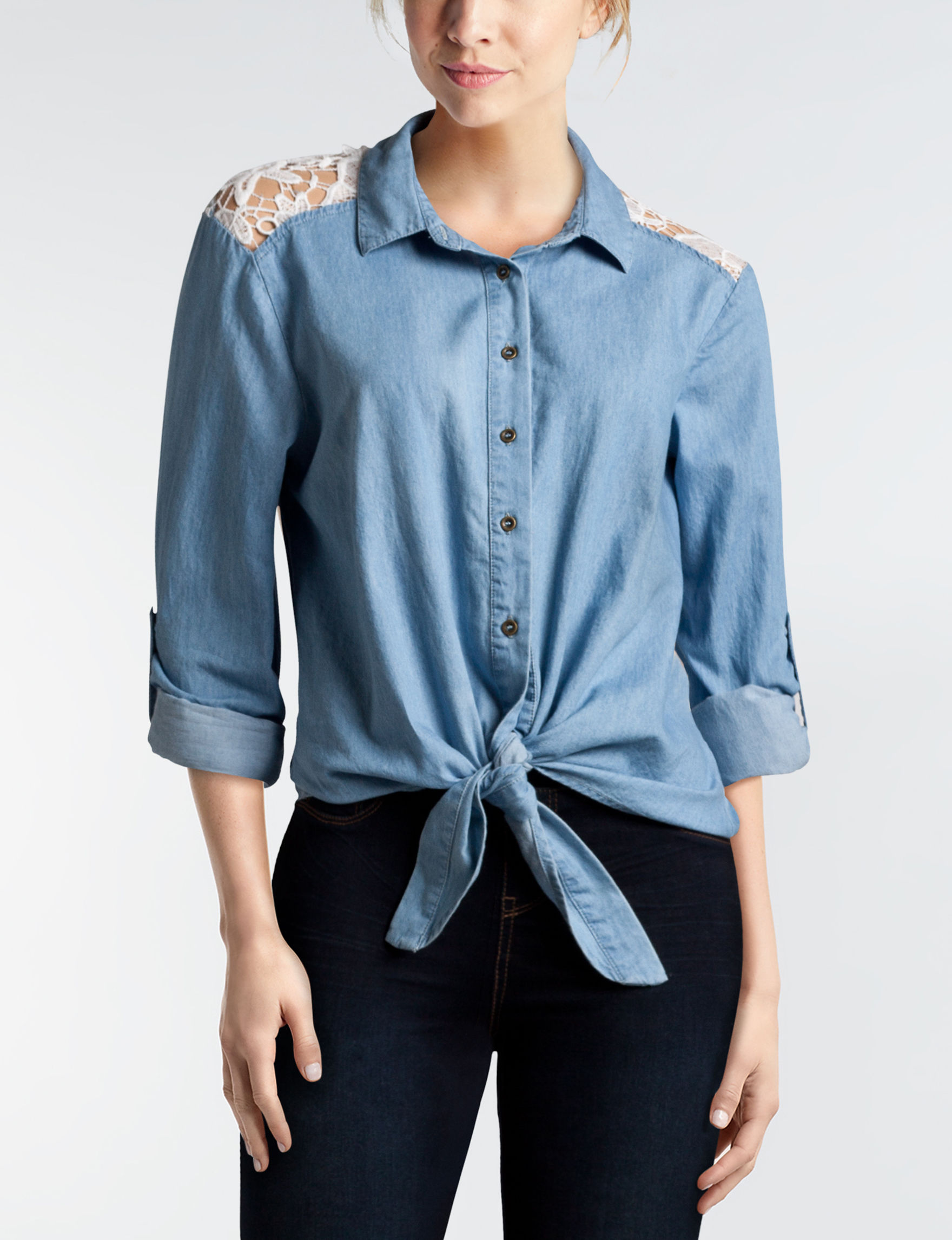 Justify Chambray Shirts & Blouses