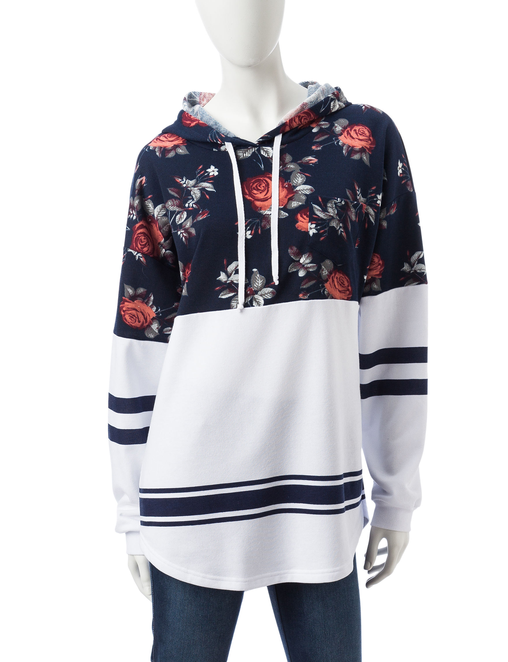 Justify Navy / White Pull-overs