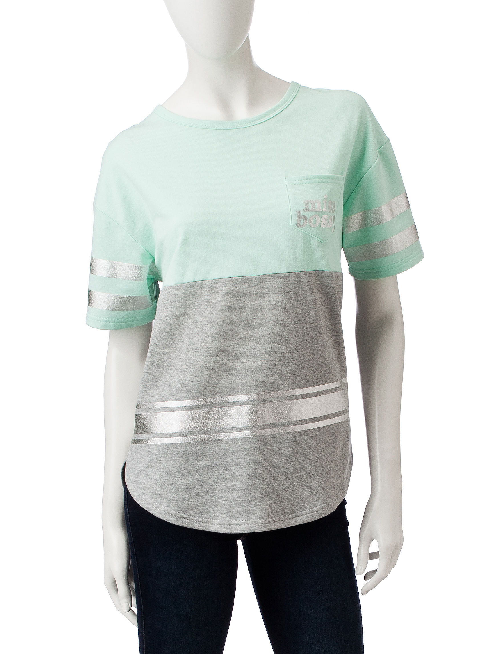 Justify Mint / Grey Shirts & Blouses