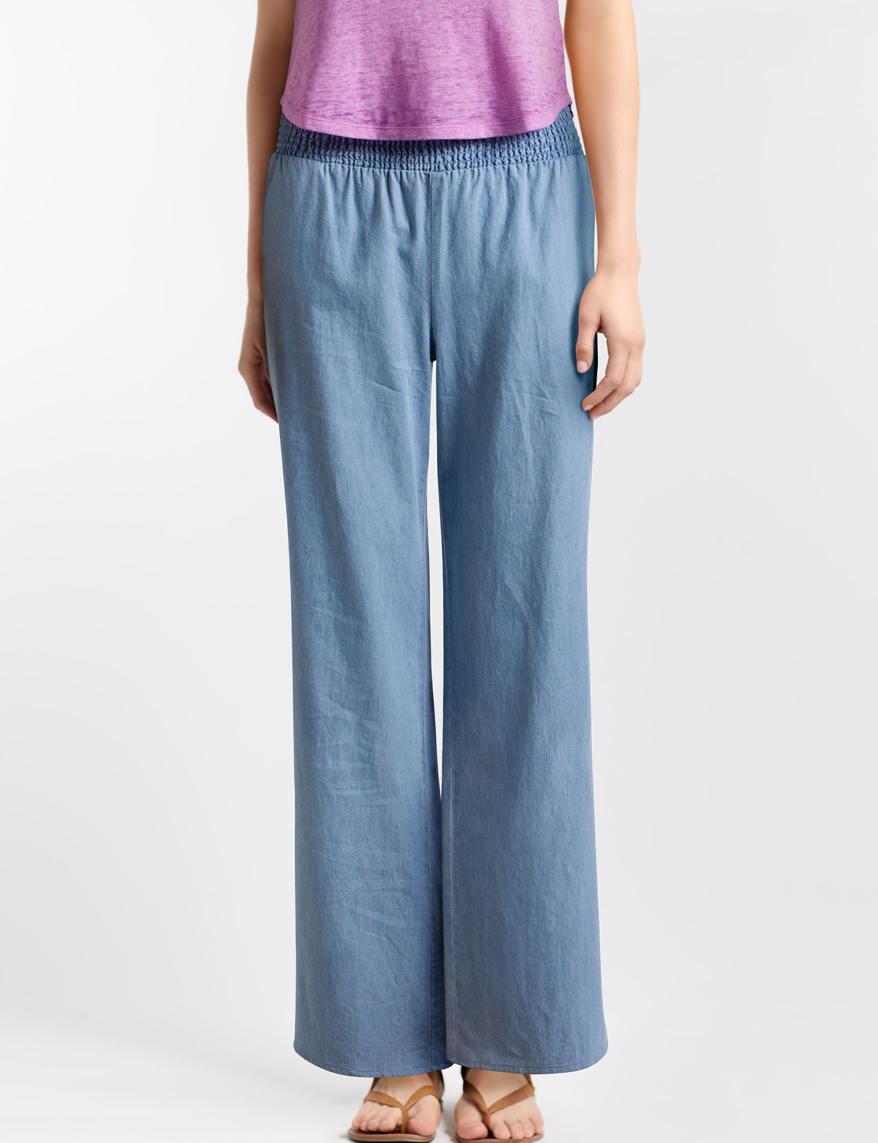 Justify Chambray Wide Leg
