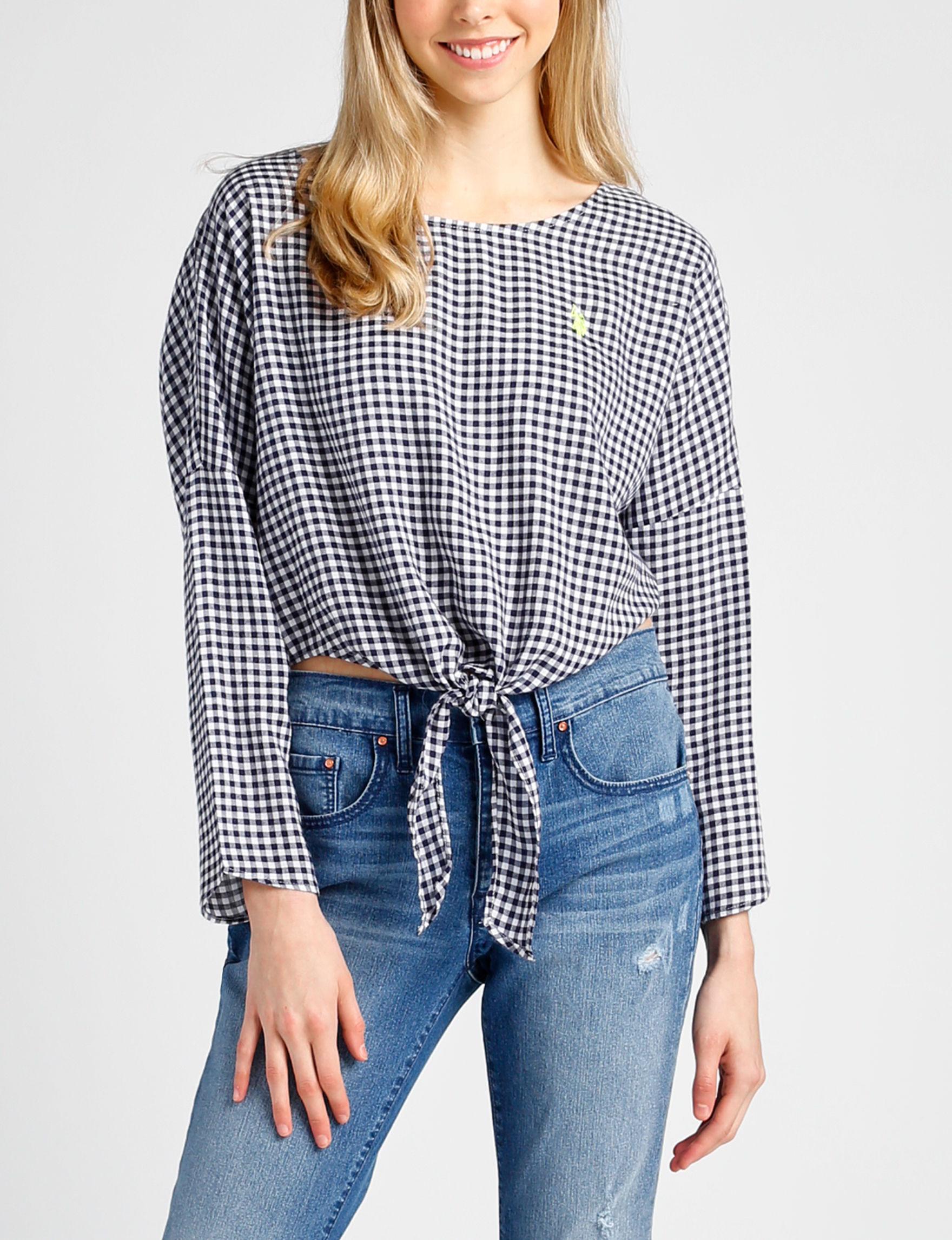 U.S. Polo Assn. Blue / White Shirts & Blouses