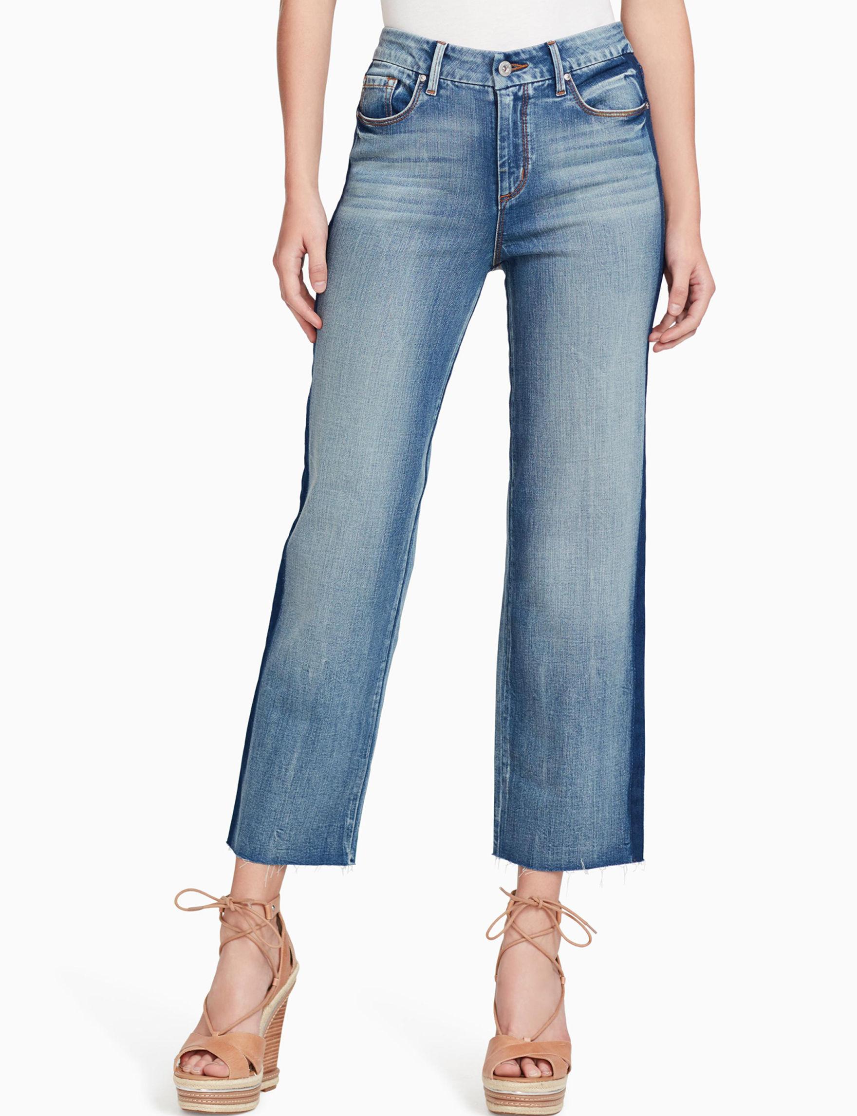 Jessica Simpson Blue Capris & Crops