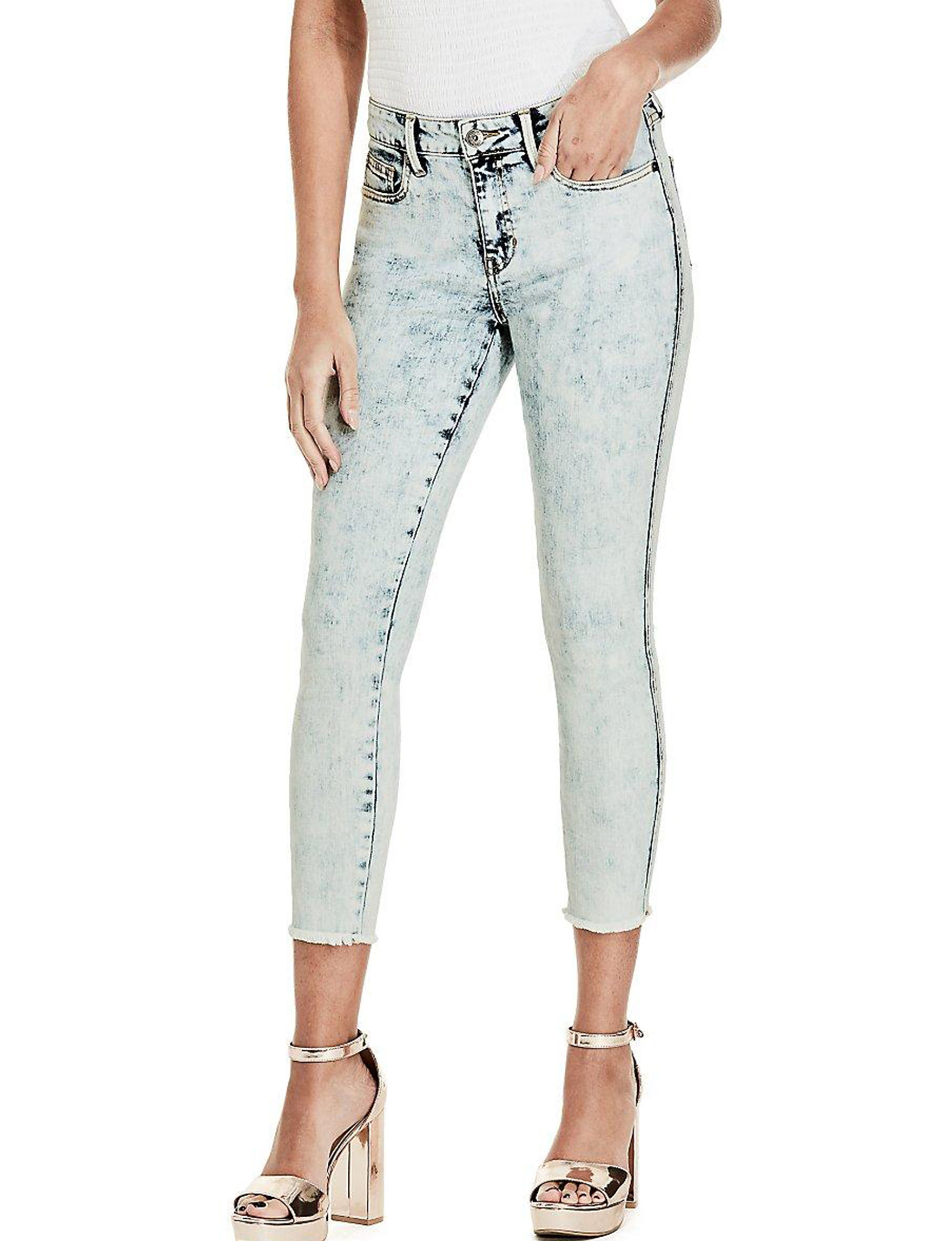G by Guess Bleached Indigo Capris & Crops