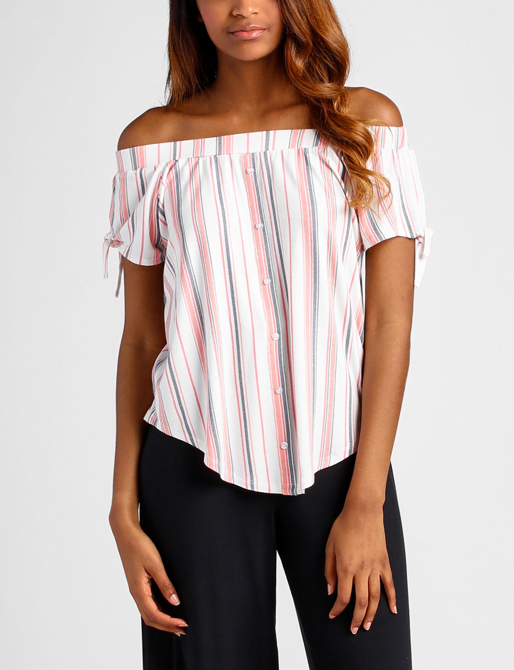 Ultra Flirt Coral Multi Shirts & Blouses