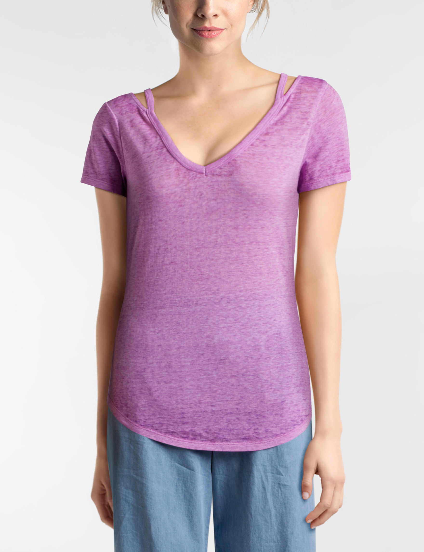 Almost Famous Lilac Tees & Tanks