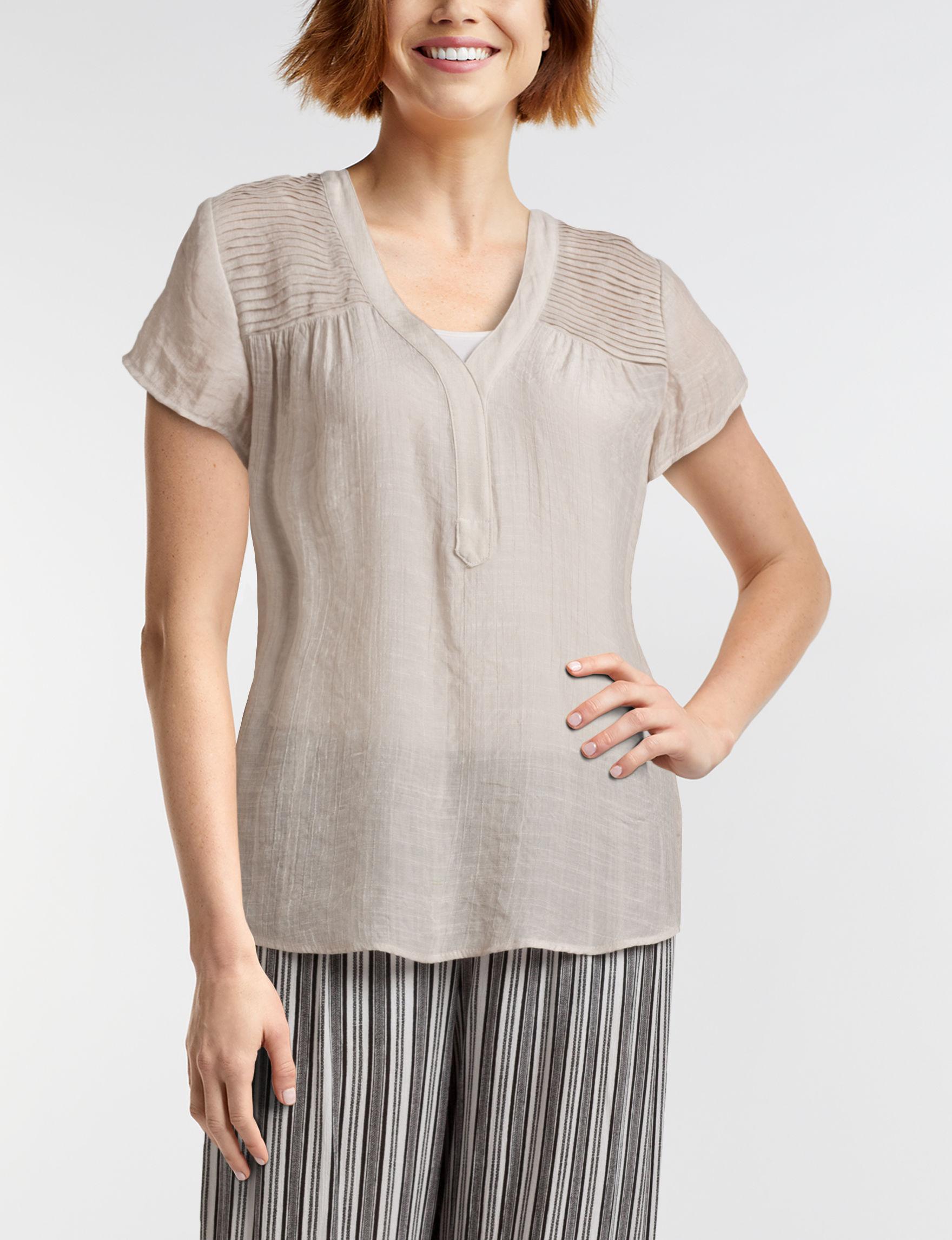 A. Byer Tan Shirts & Blouses