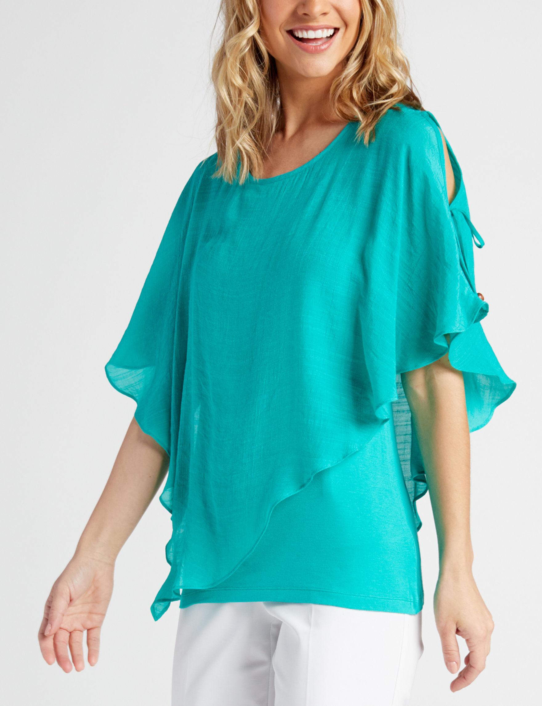 A. Byer Green Shirts & Blouses