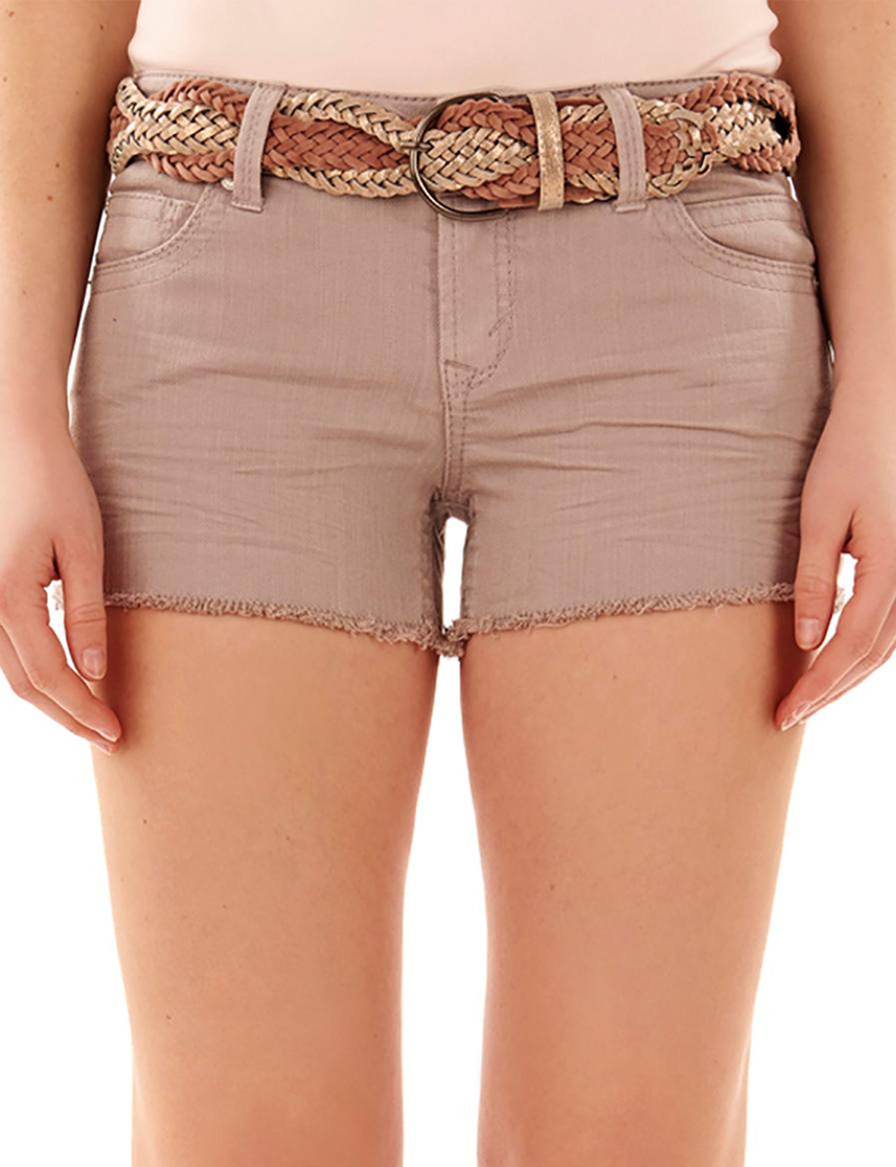 WallFlower Khaki Denim Shorts