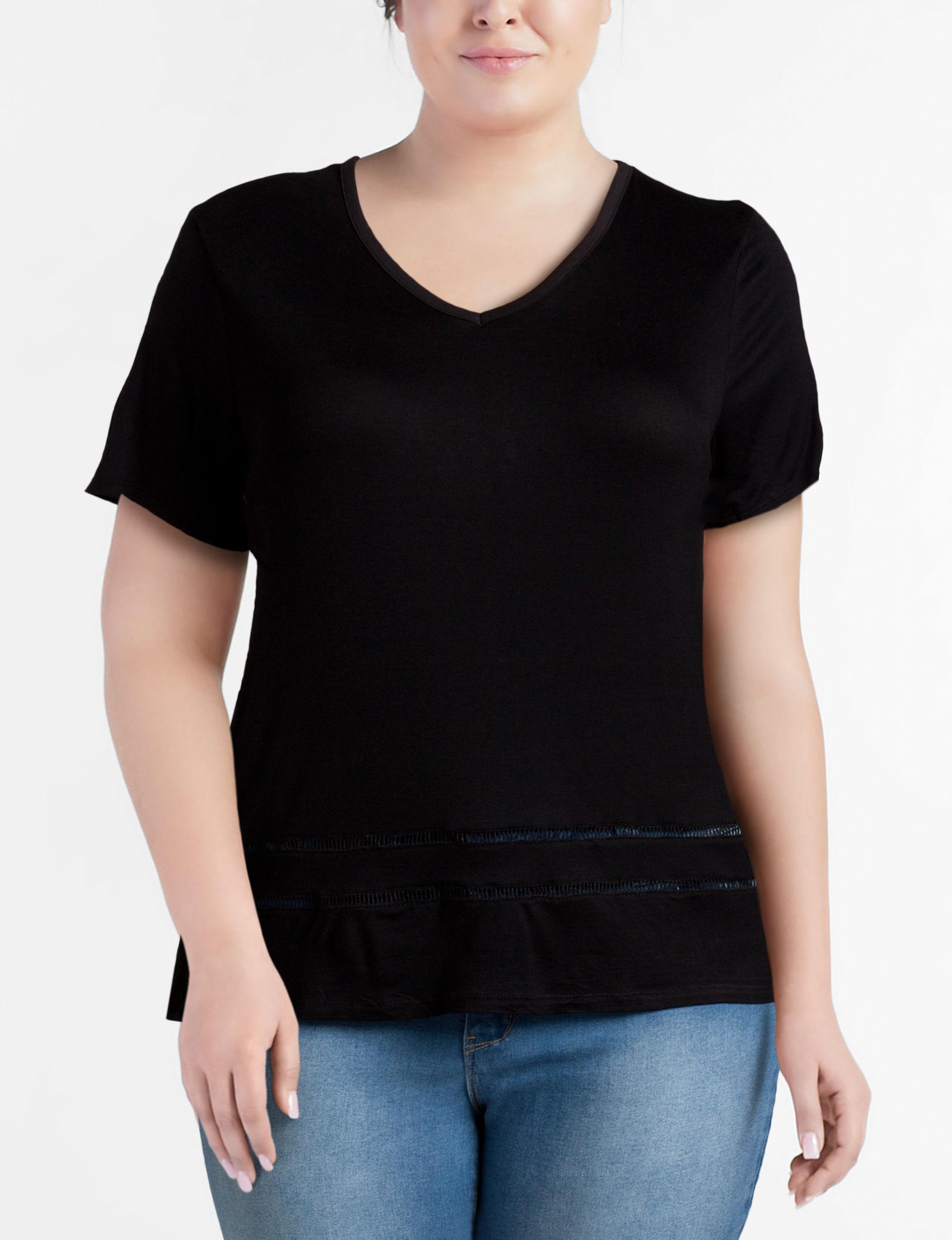 Moral Fiber Black Shirts & Blouses