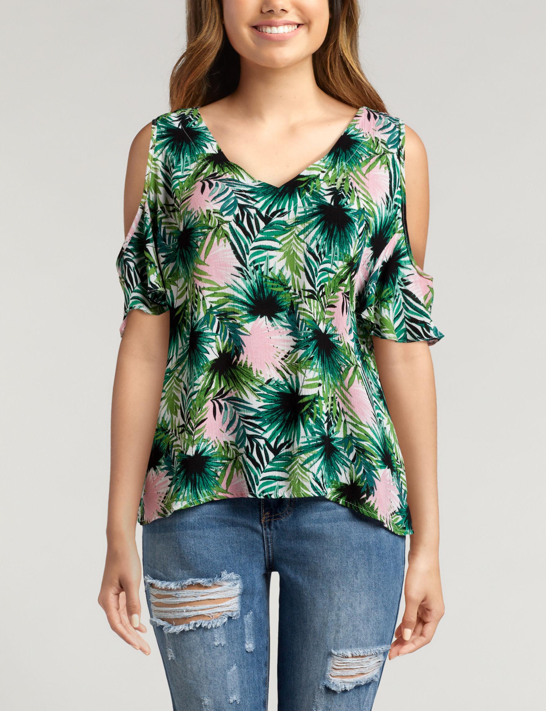 Wishful Park Green Shirts & Blouses