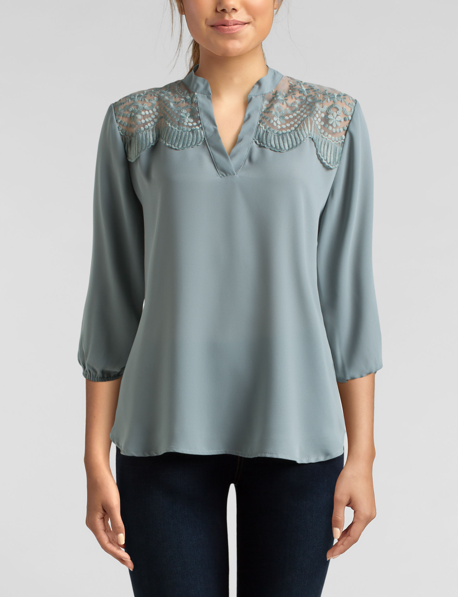Wishful Park Sage Shirts & Blouses