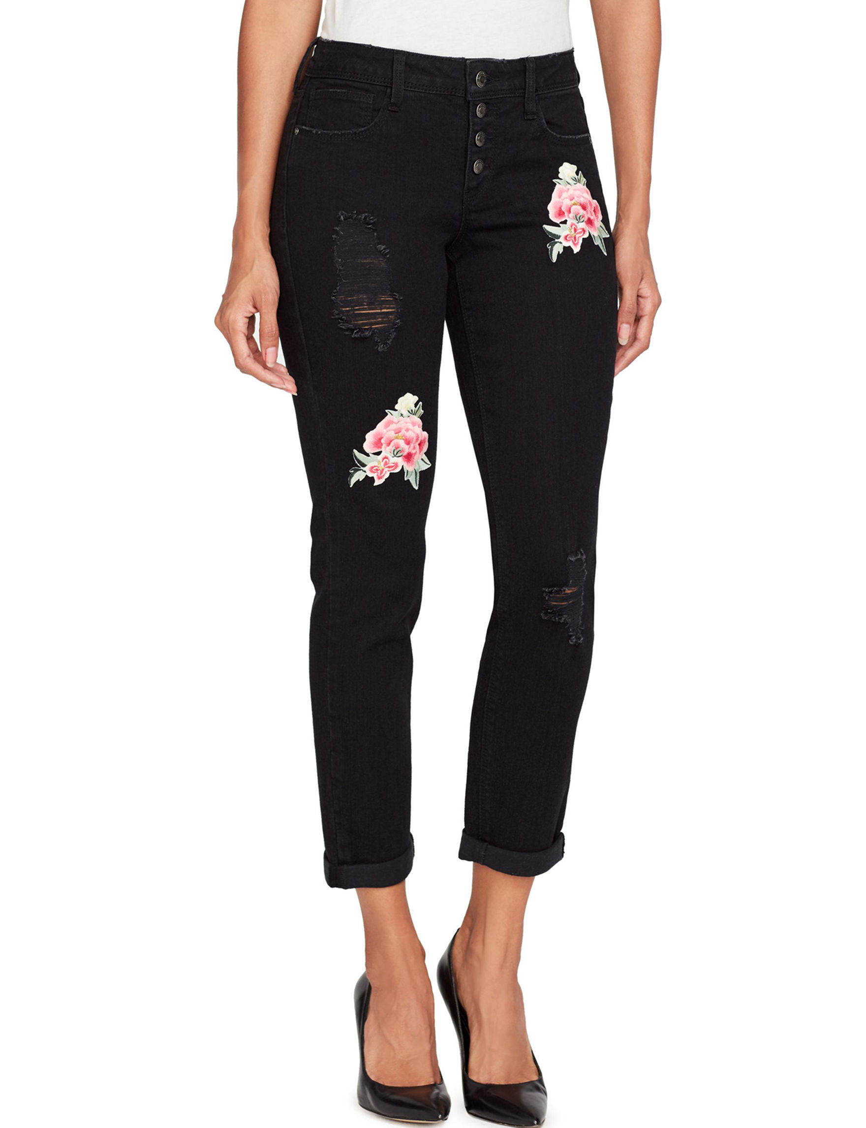 Black Daisy Black Skinny Straight