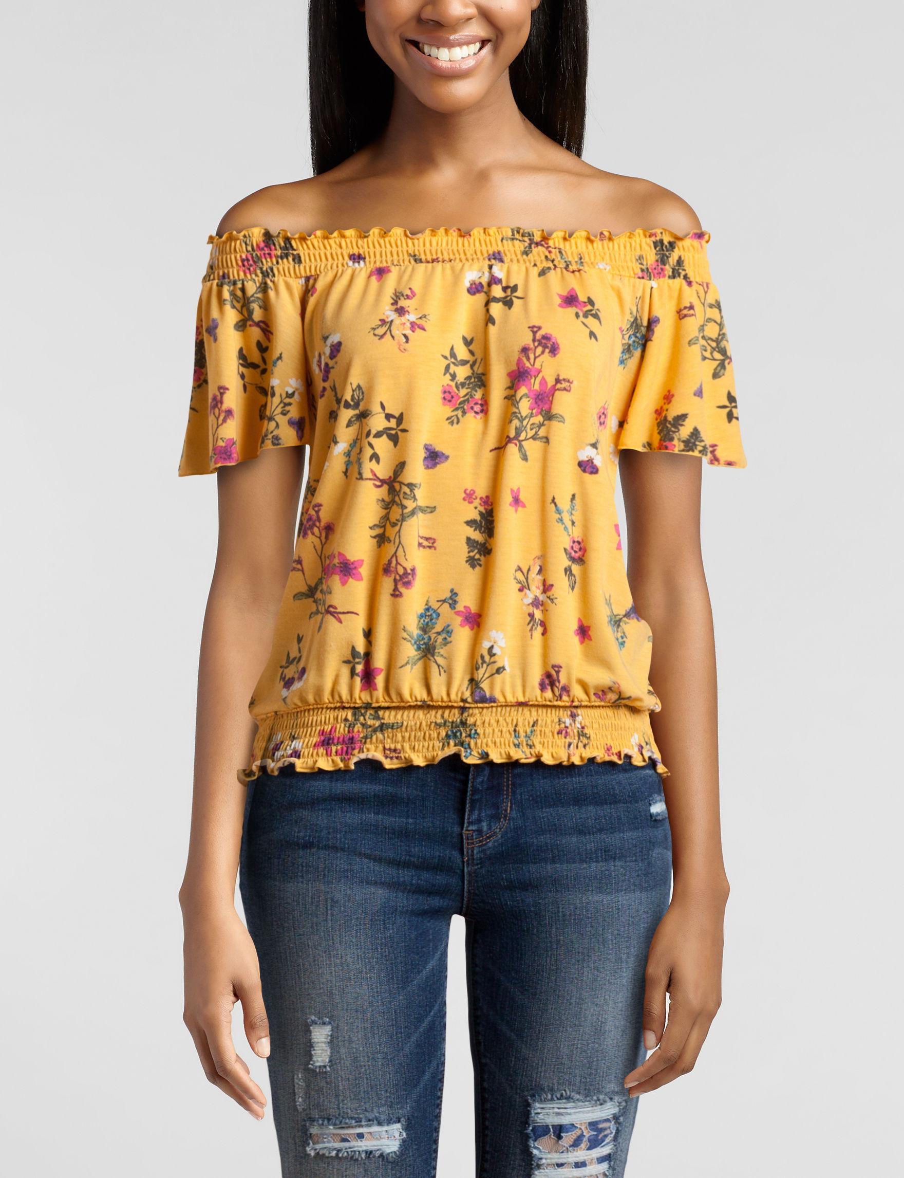 WallFlower Yellow Multi Shirts & Blouses