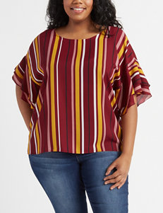 7c25dfc4d76bb8 Justify Juniors' Plus Size Zip Accent Top · Justify Navy Shirts & Blouses