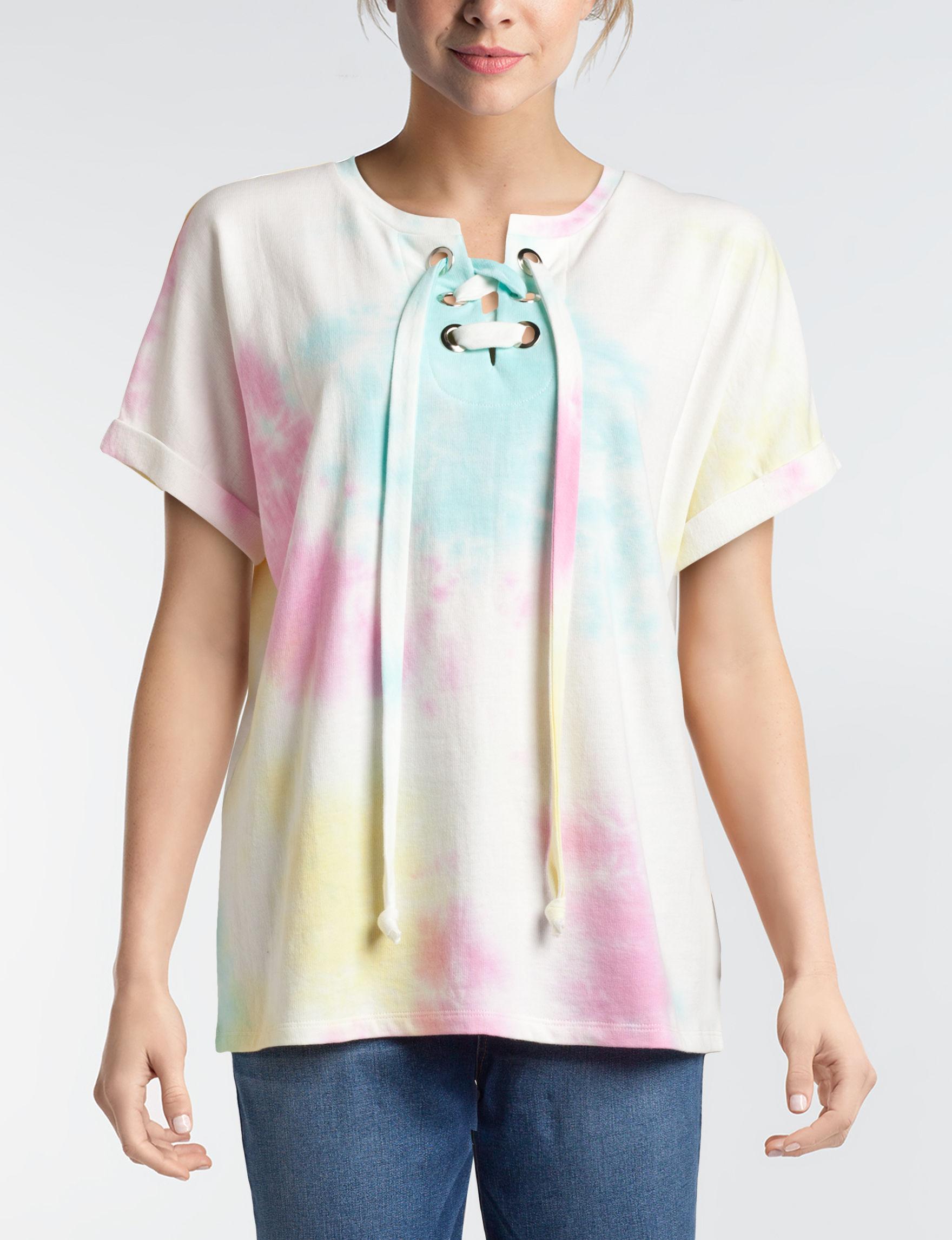 Signature Studio White Multi Shirts & Blouses Tees & Tanks