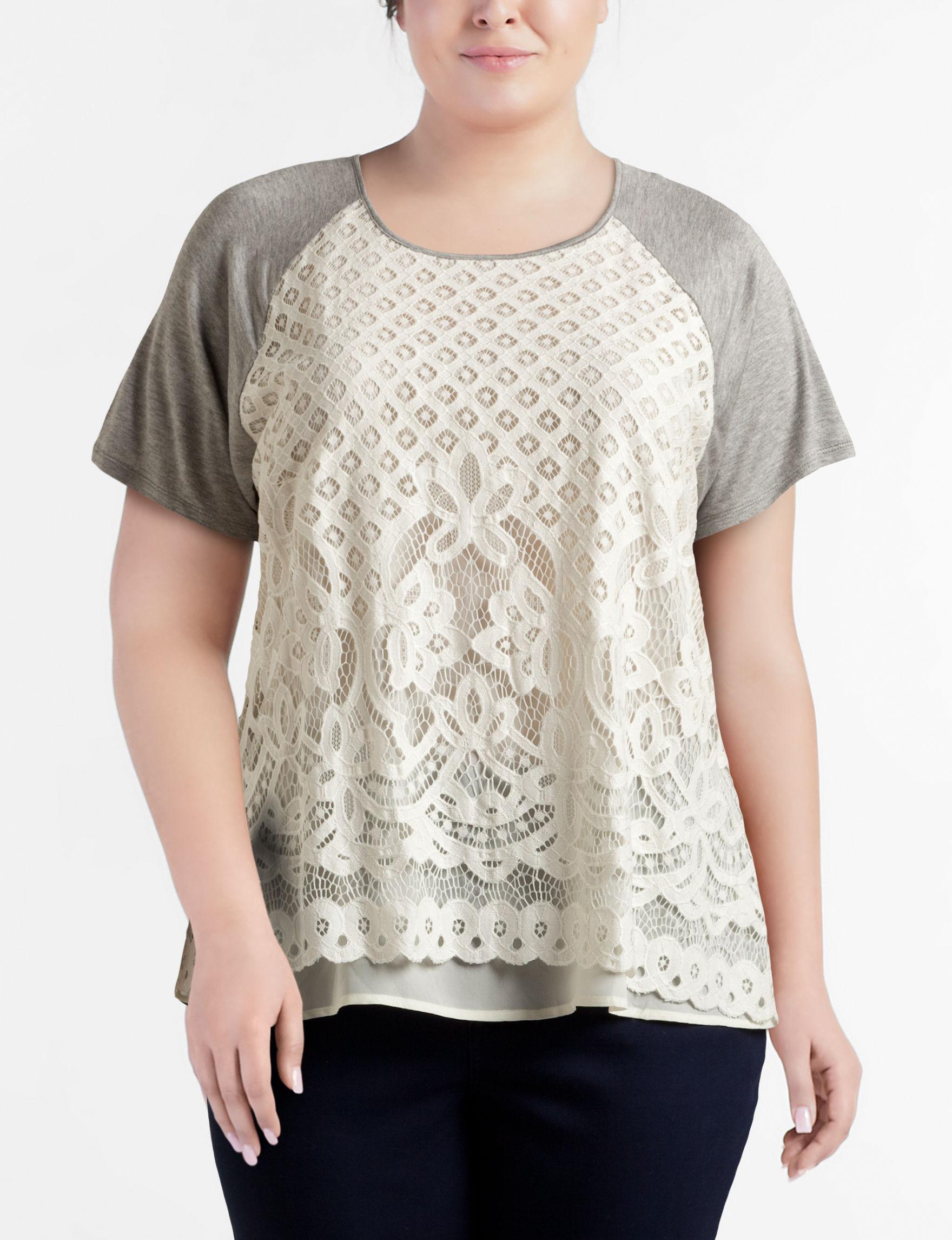 Eyeshadow Heather Grey Shirts & Blouses