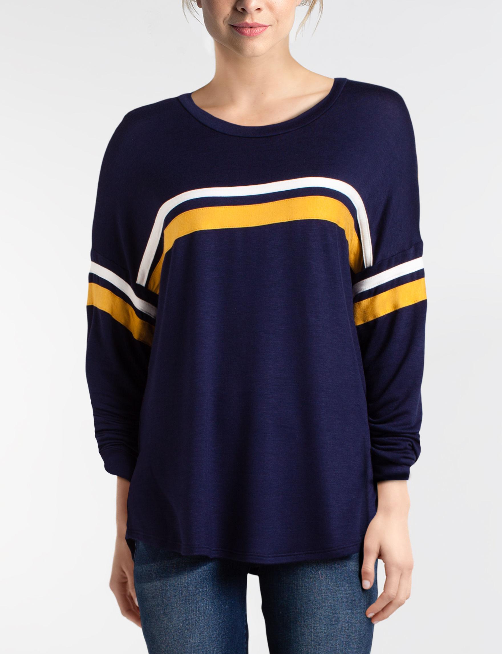 Signature Studio Navy Shirts & Blouses