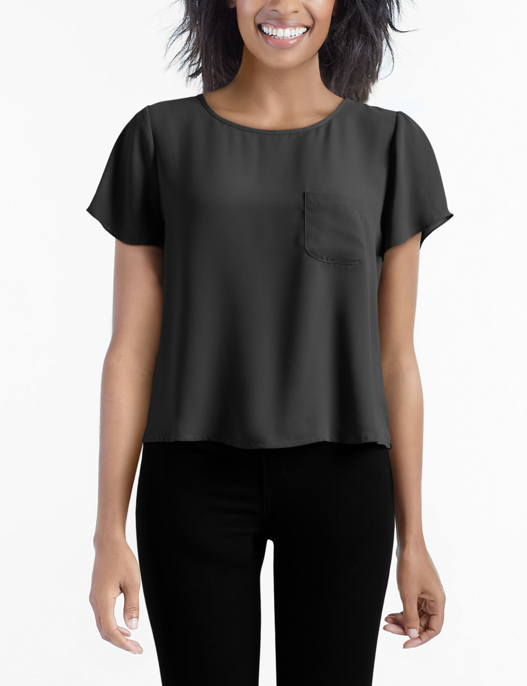 Lily White Black Shirts & Blouses