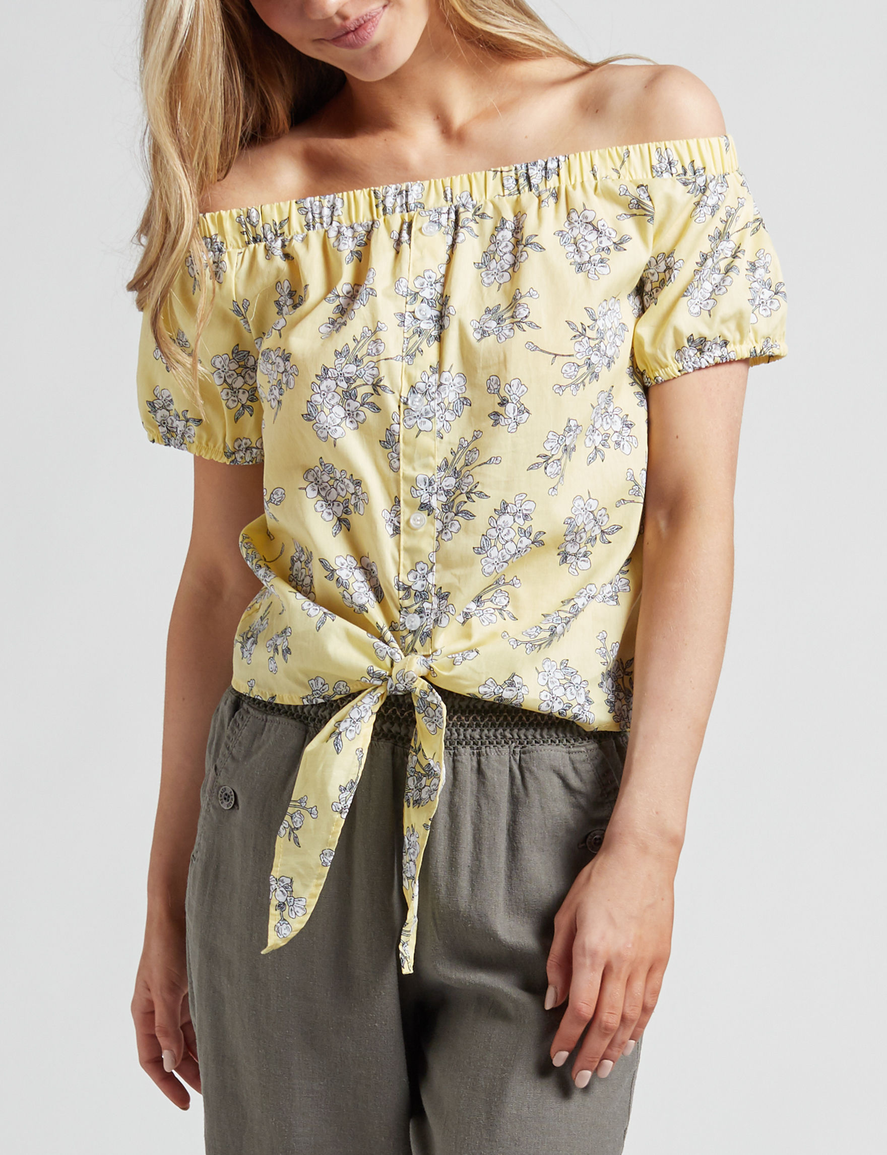 Ultra Flirt Yellow Shirts & Blouses