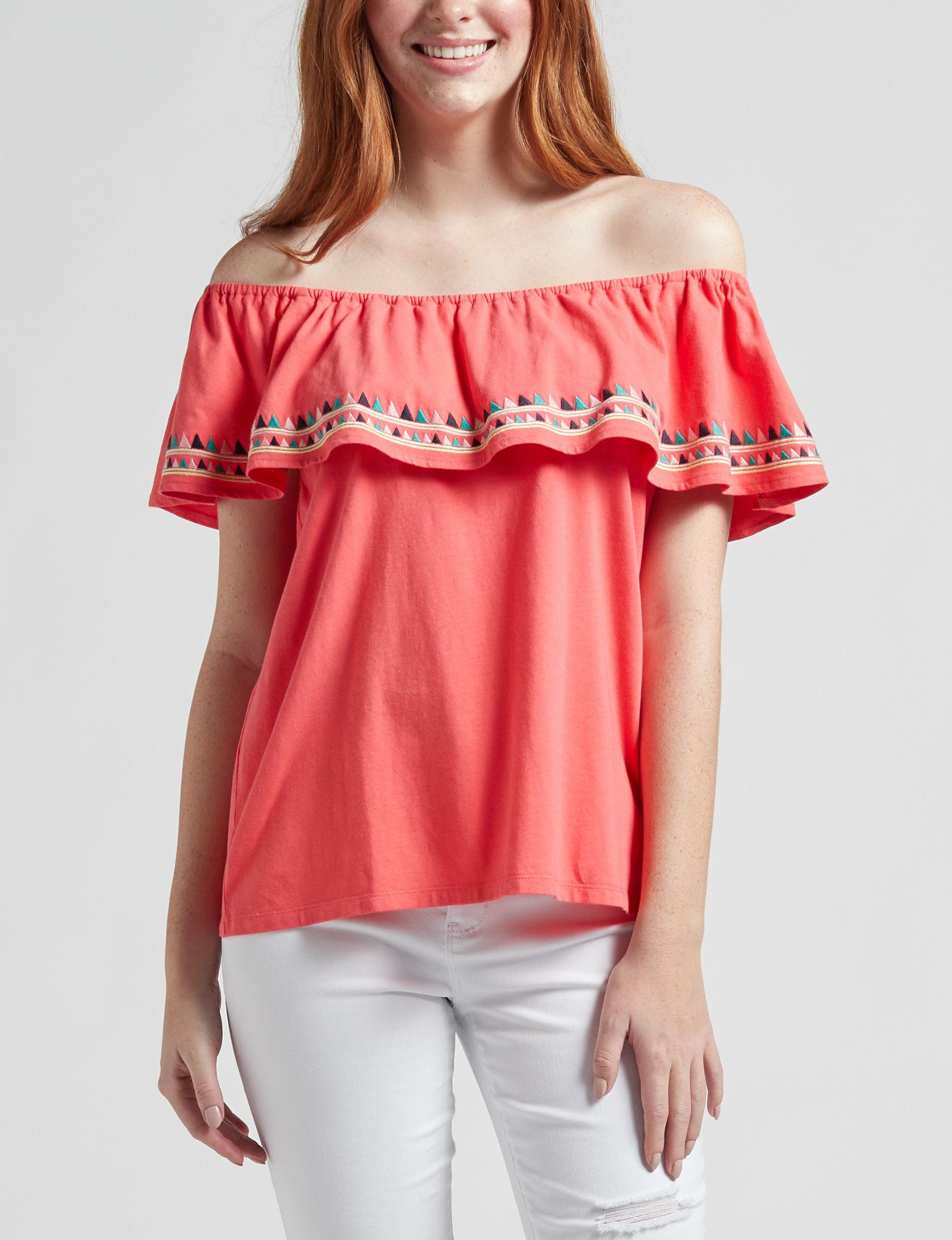 WallFlower Coral Shirts & Blouses