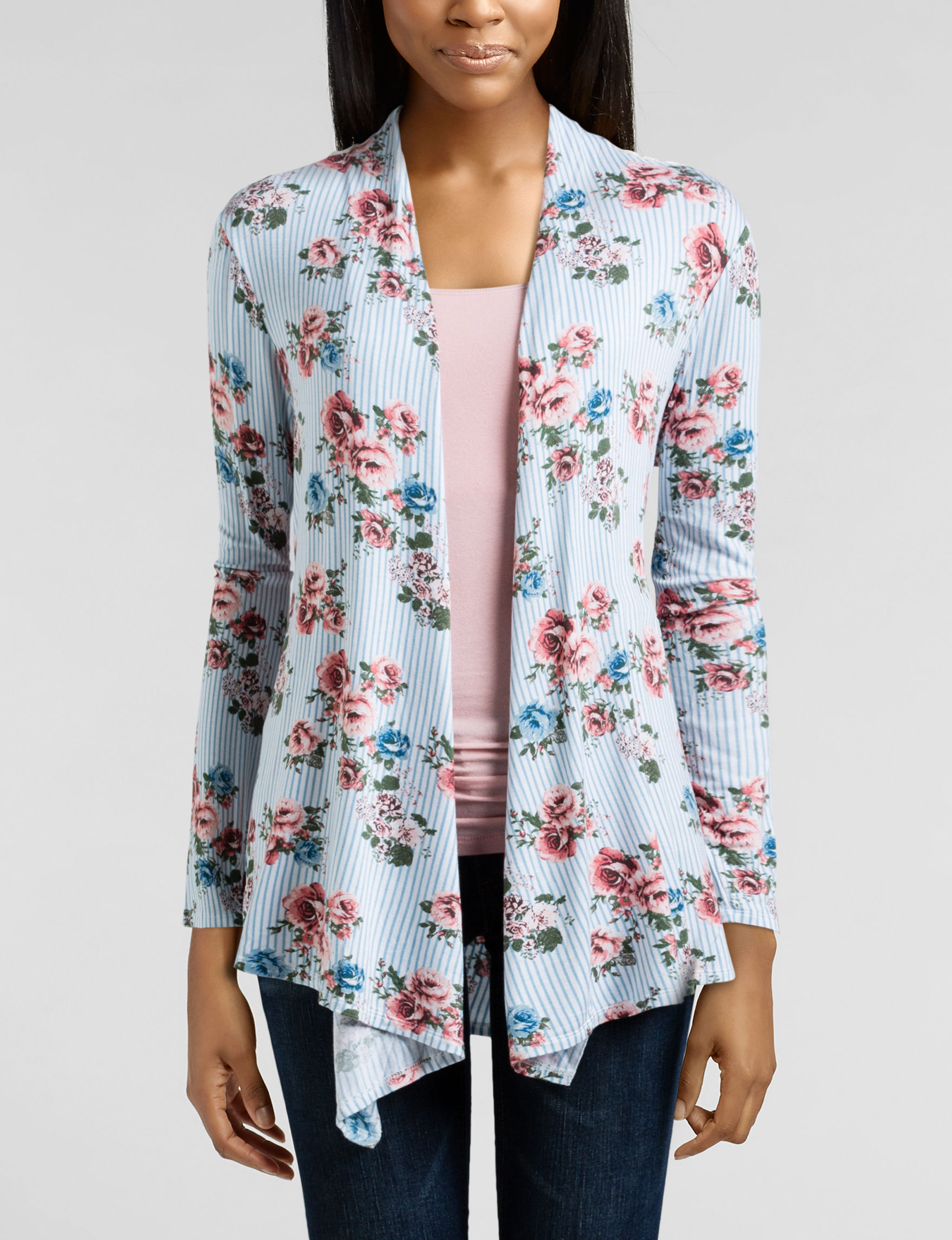 Liberty Love Blue / White Cardigans