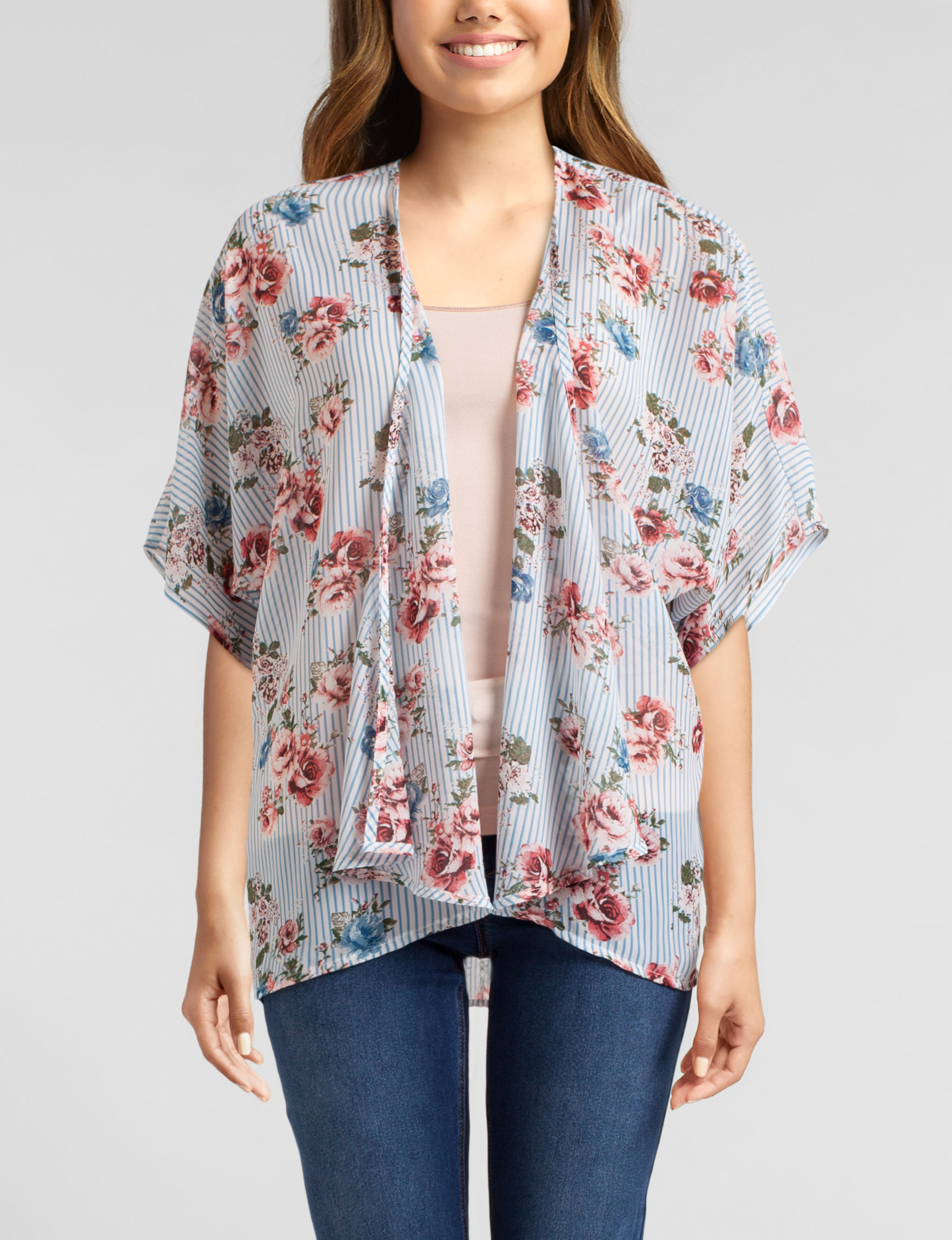 Wishful Park Blue Stripe Kimonos & Toppers