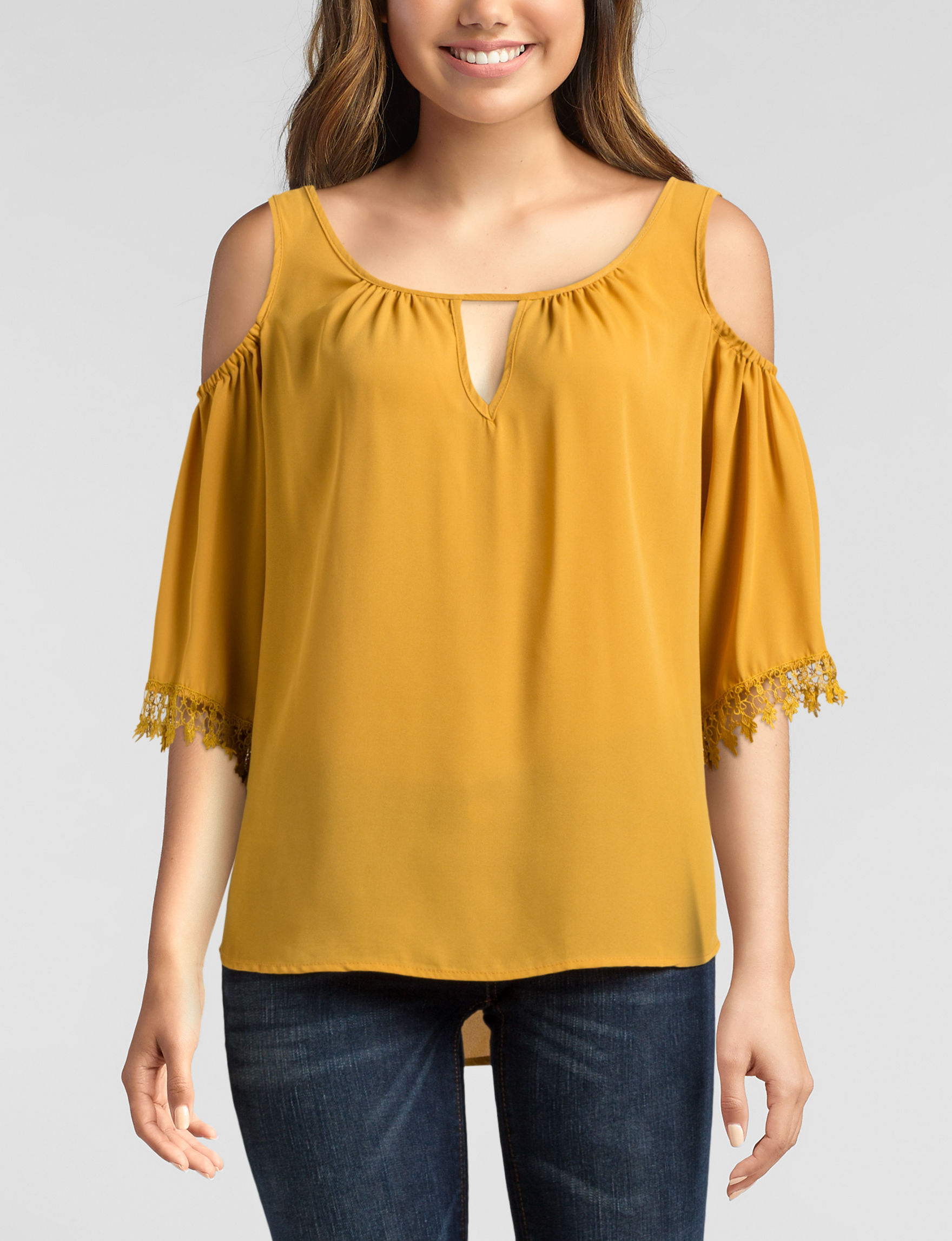 Wishful Park Gold Shirts & Blouses