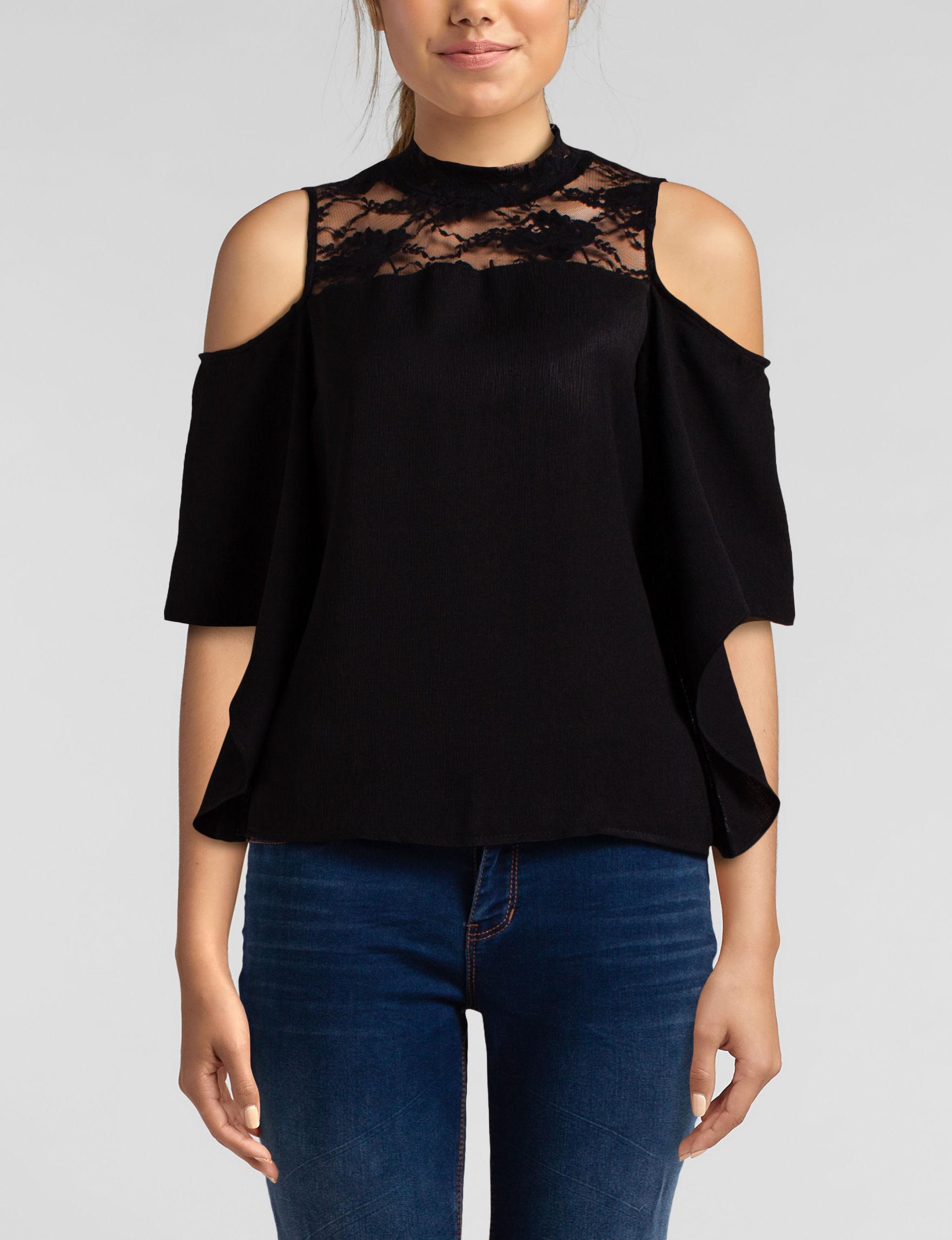 Wishful Park Black Shirts & Blouses