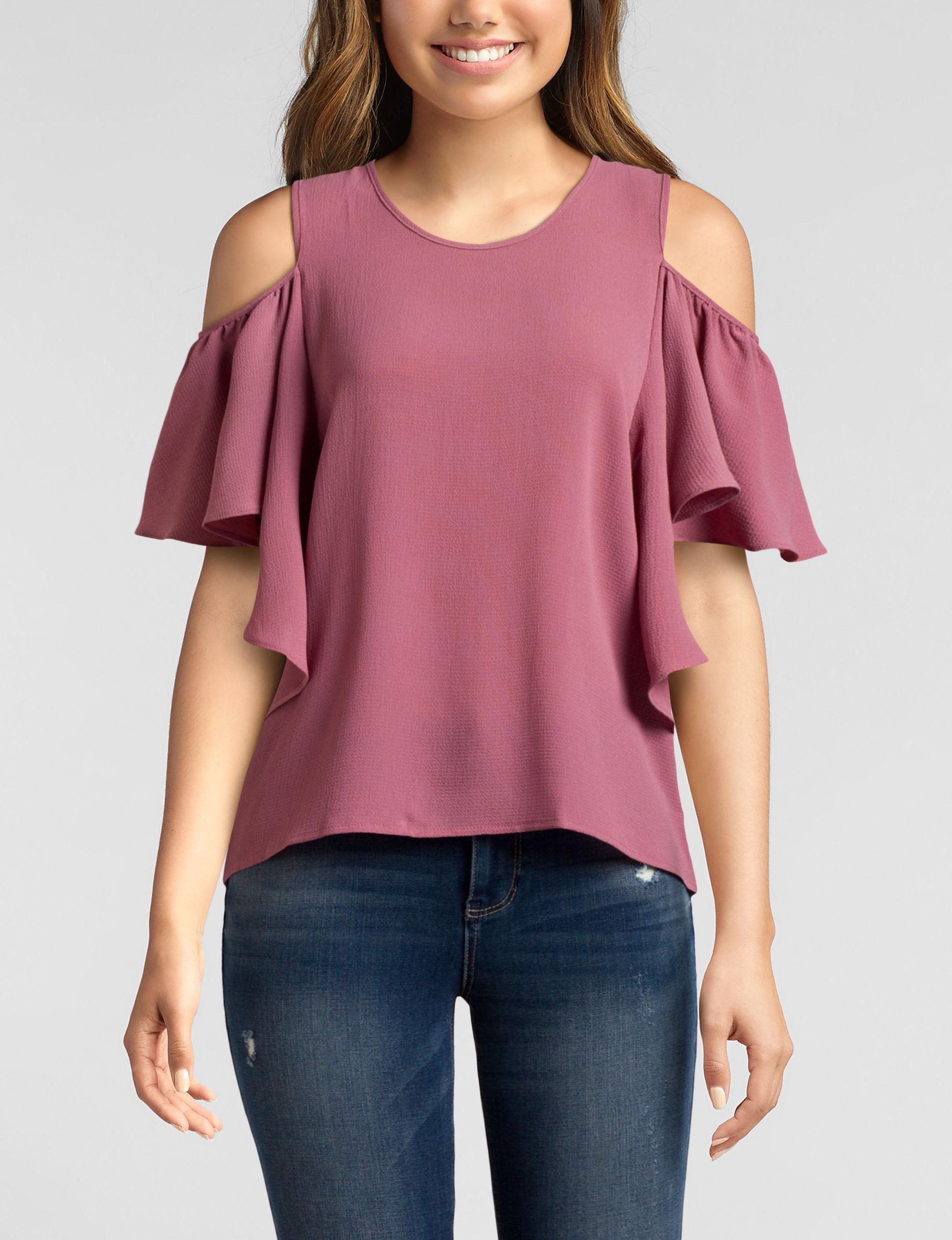 Moral Fiber Pink Shirts & Blouses