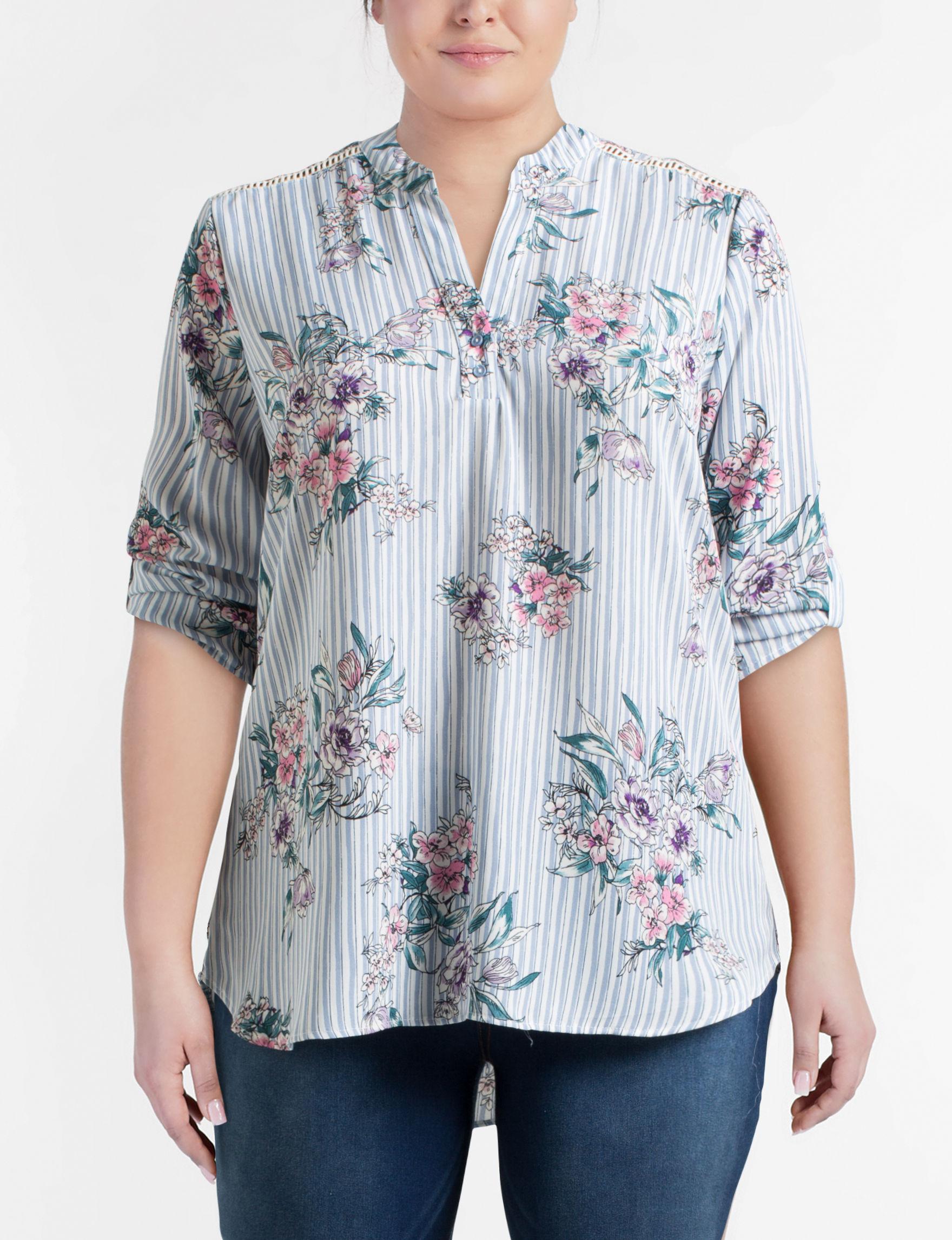 Liberty Love White Multi Shirts & Blouses