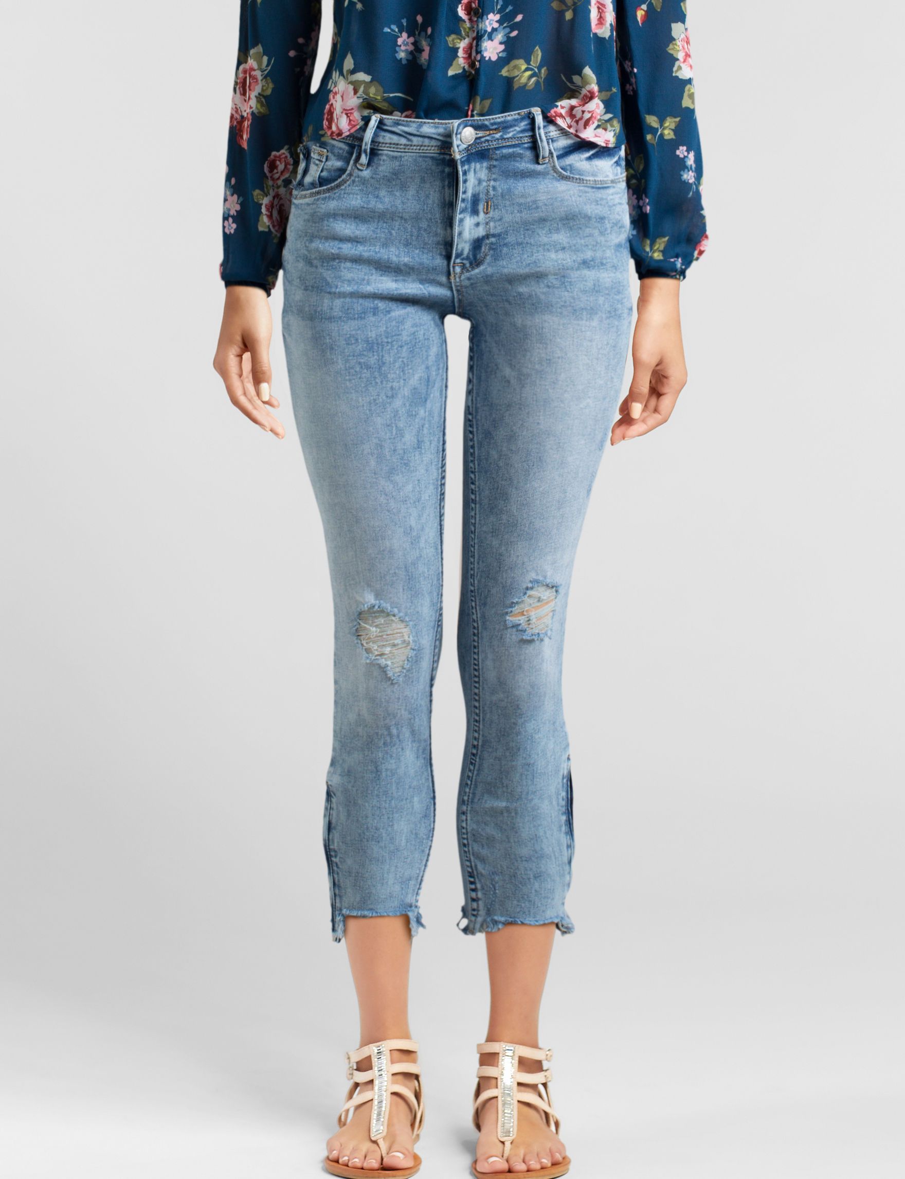 Almost Famous Acid Wash Skinny
