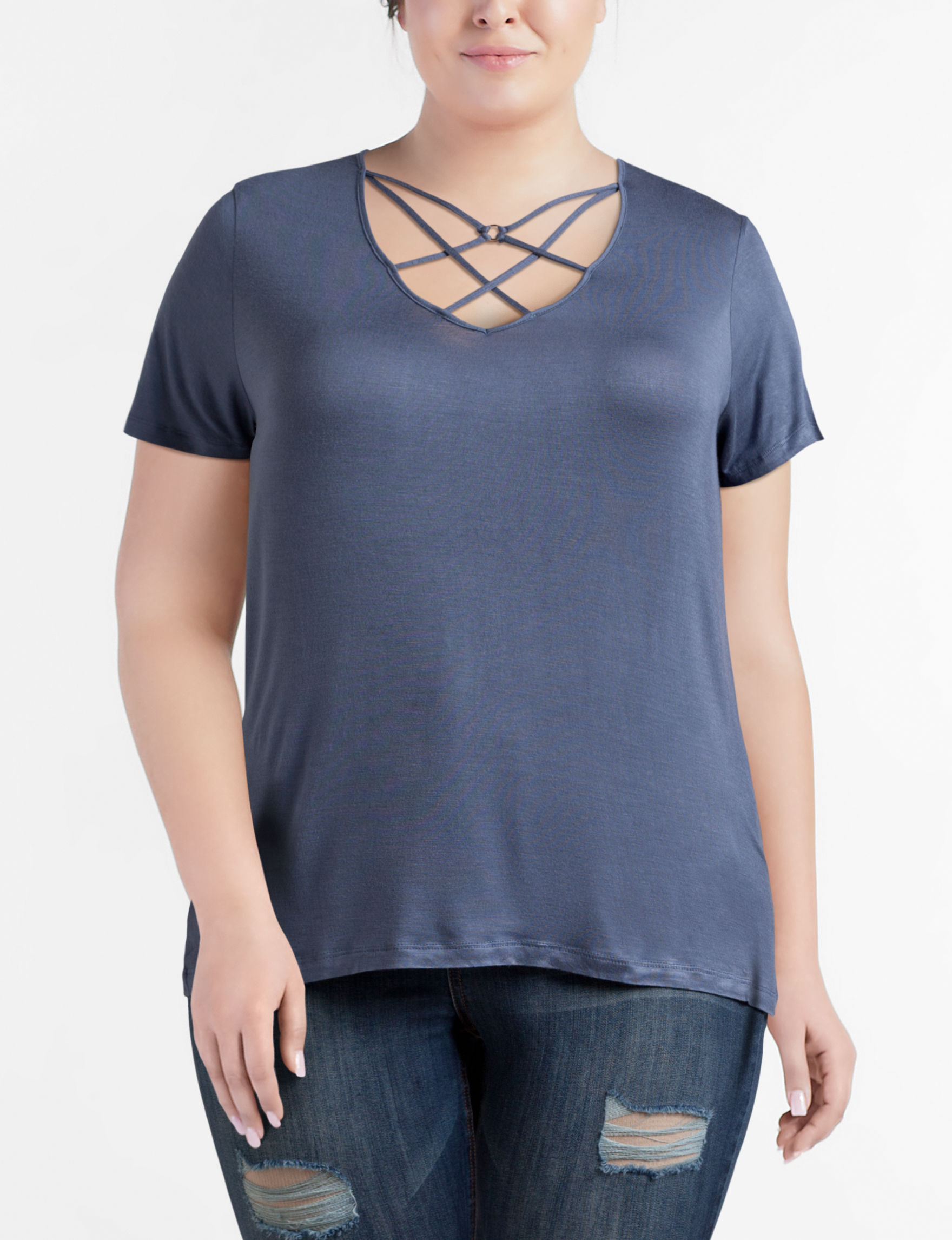 Glitz Blue Shirts & Blouses Tees & Tanks