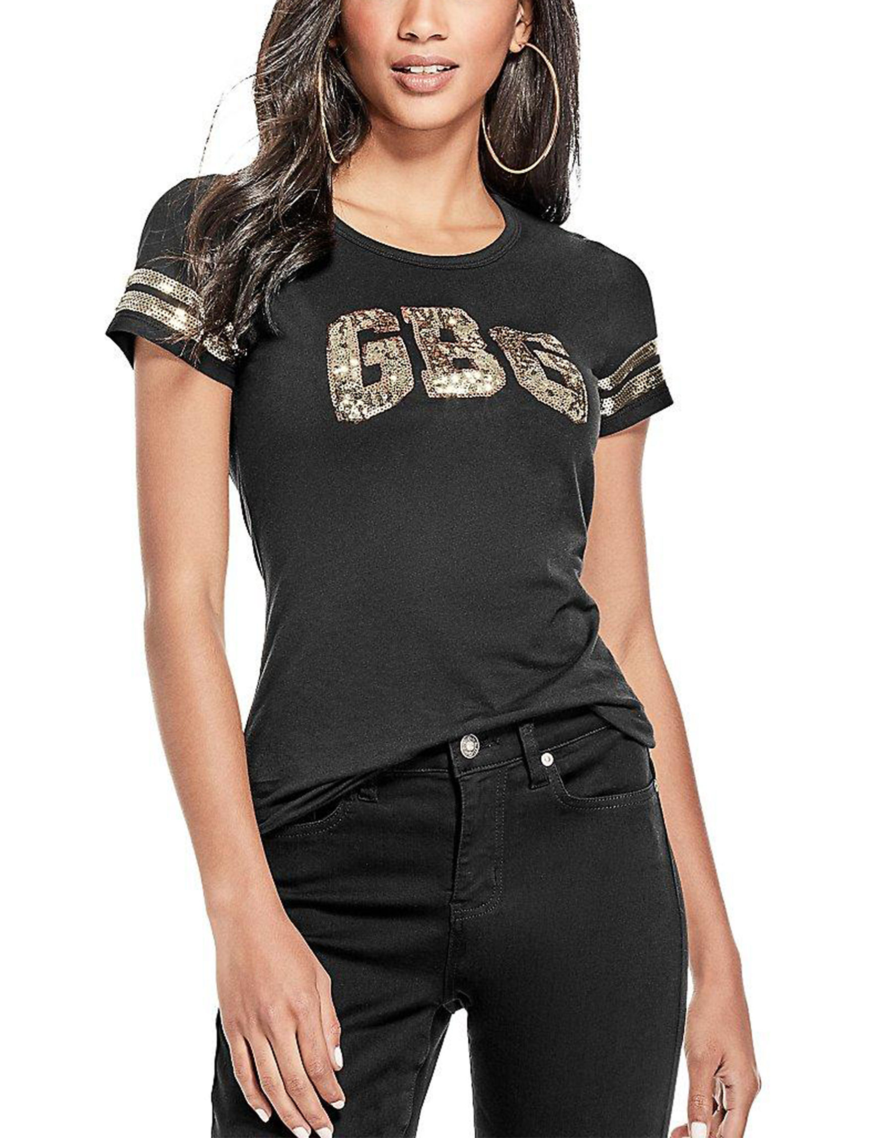 G by Guess Black Shirts & Blouses Tees & Tanks