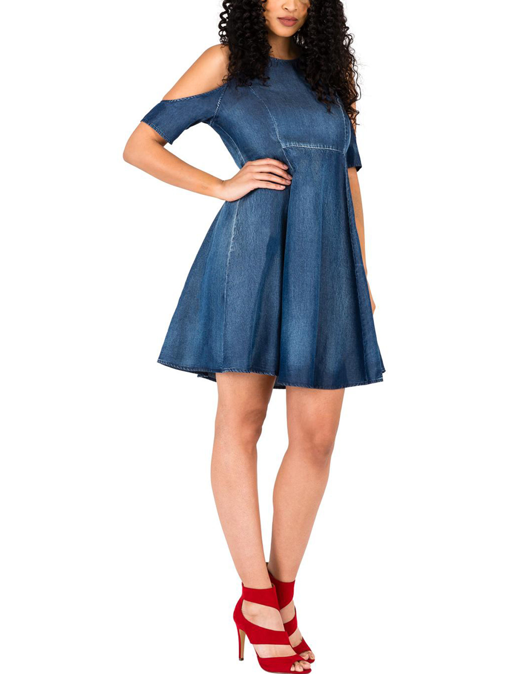 Poetic  Justice Denim Everyday & Casual A-line Dresses