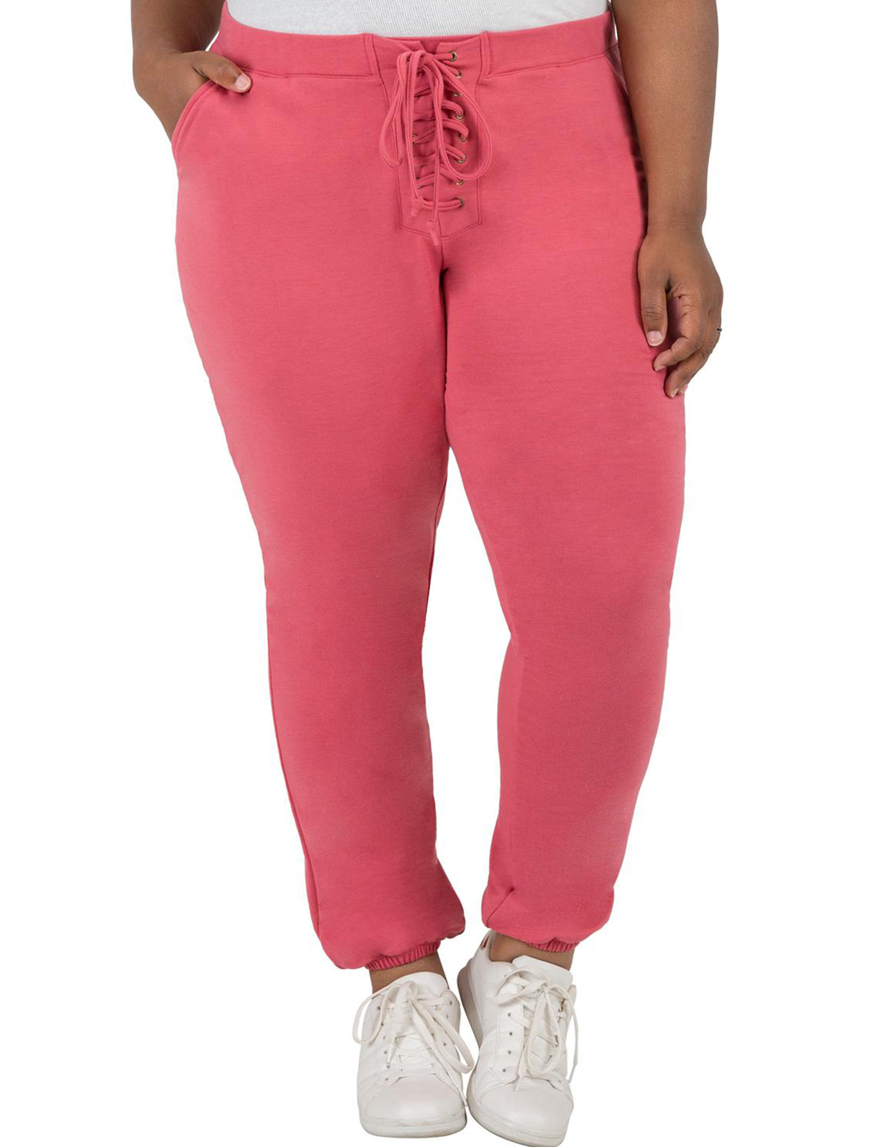 Poetic  Justice Fuchsia Soft Pants