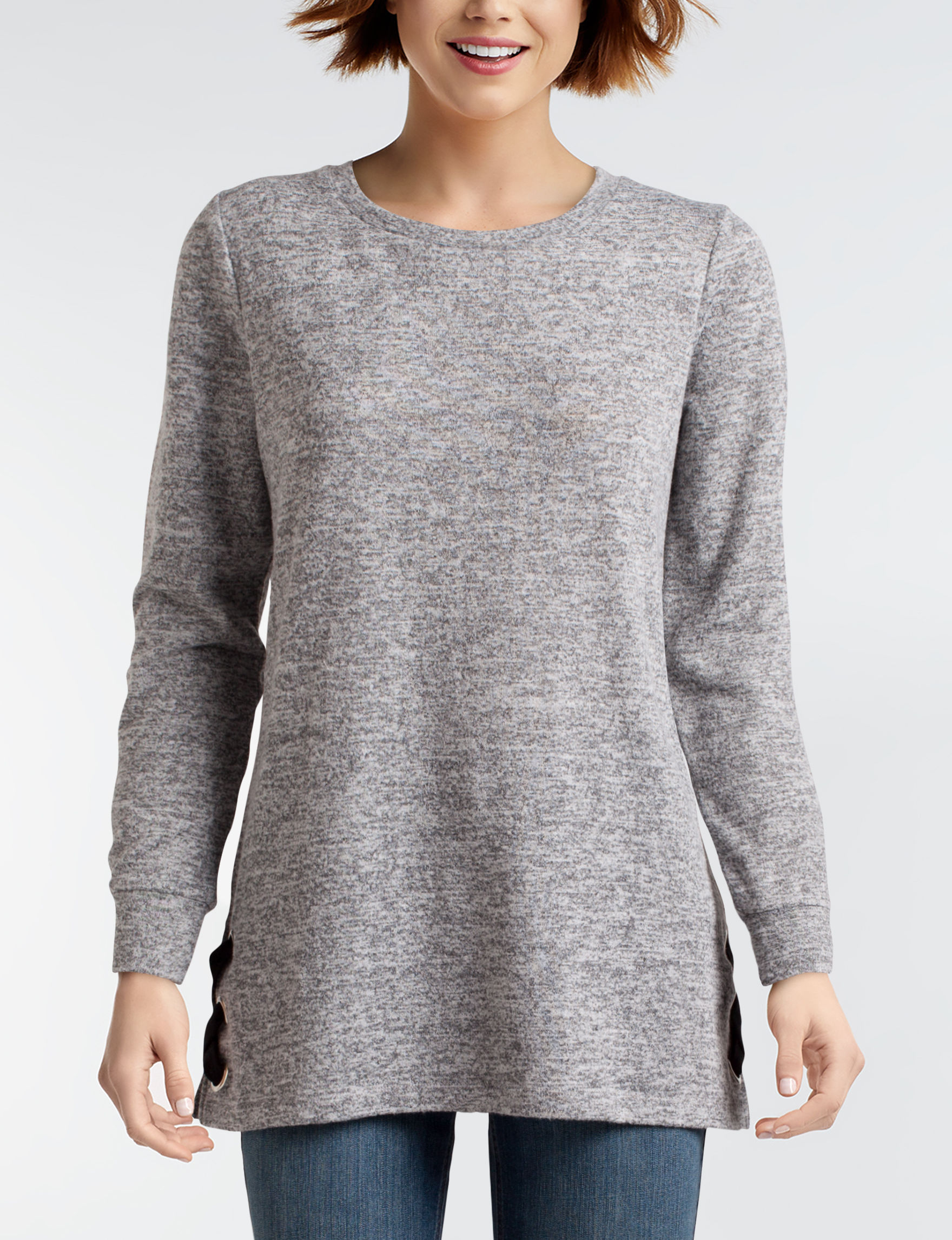 Signature Studio Grey Shirts & Blouses