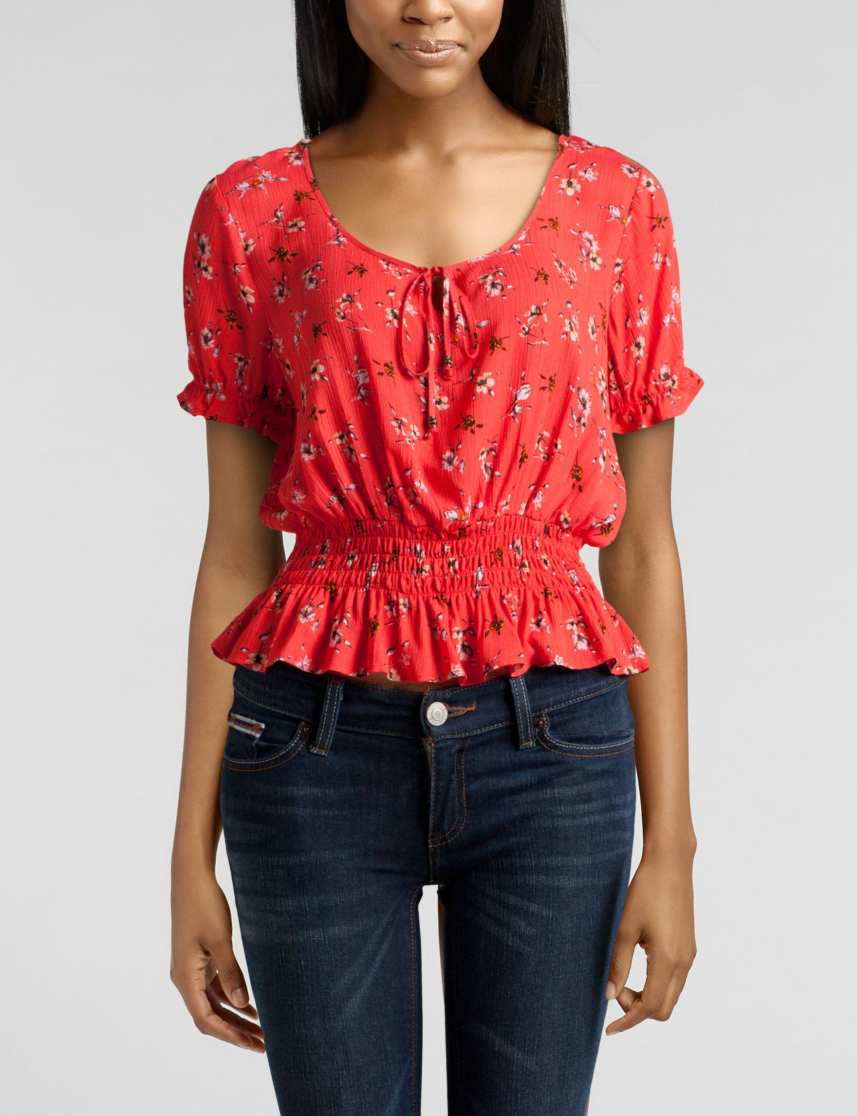 Jolt Red Shirts & Blouses