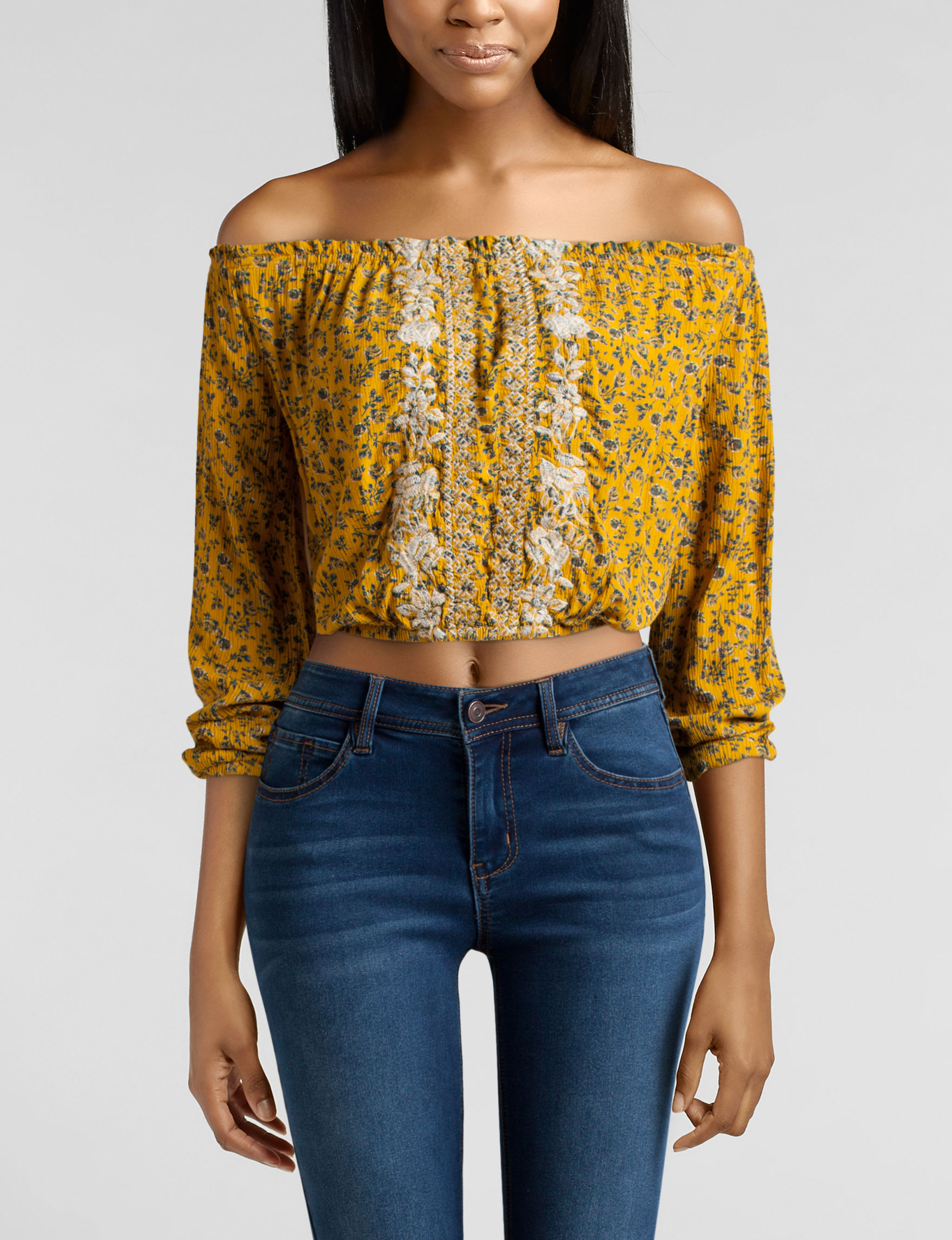 Jolt Yellow Shirts & Blouses