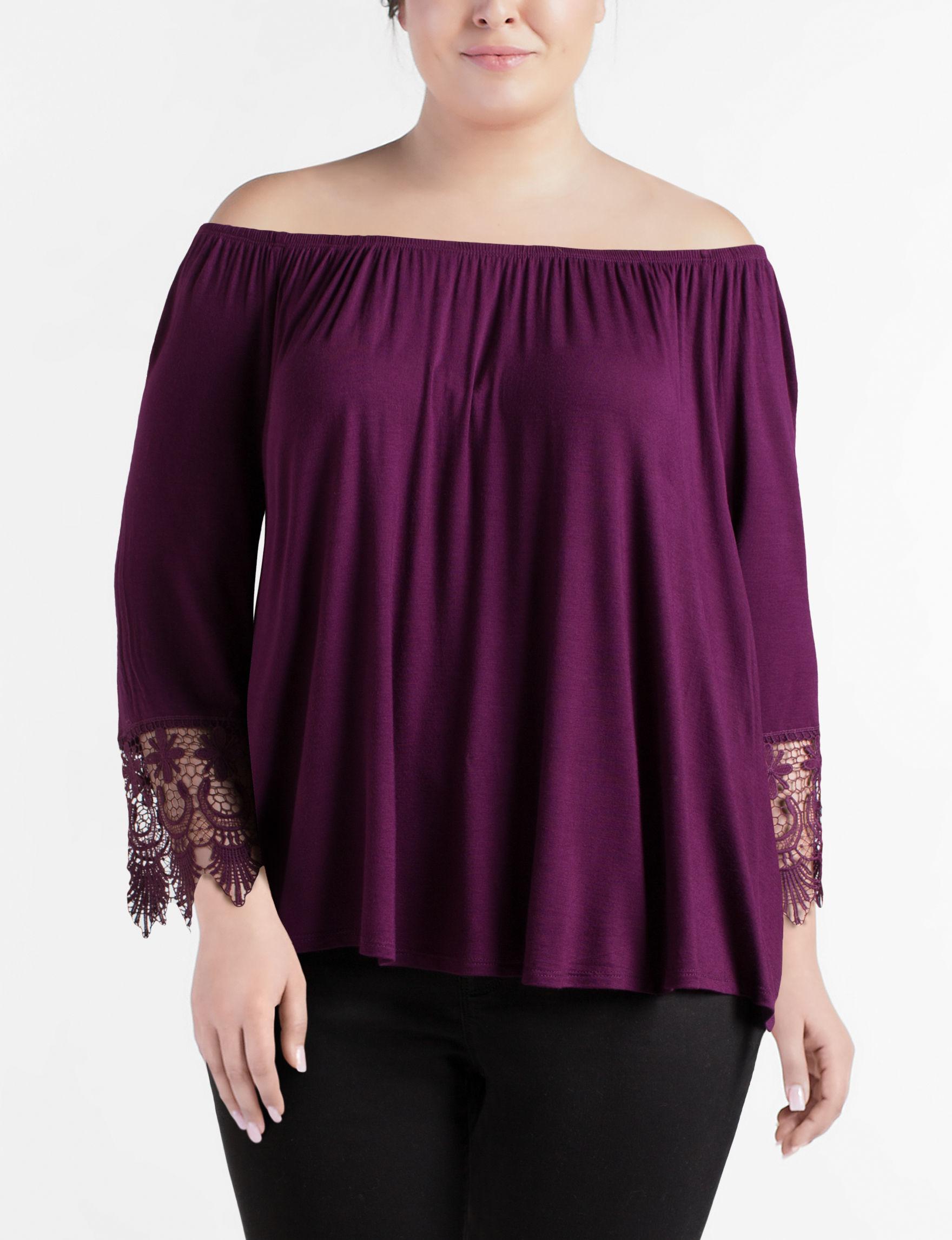 Liberty Love Purple Shirts & Blouses