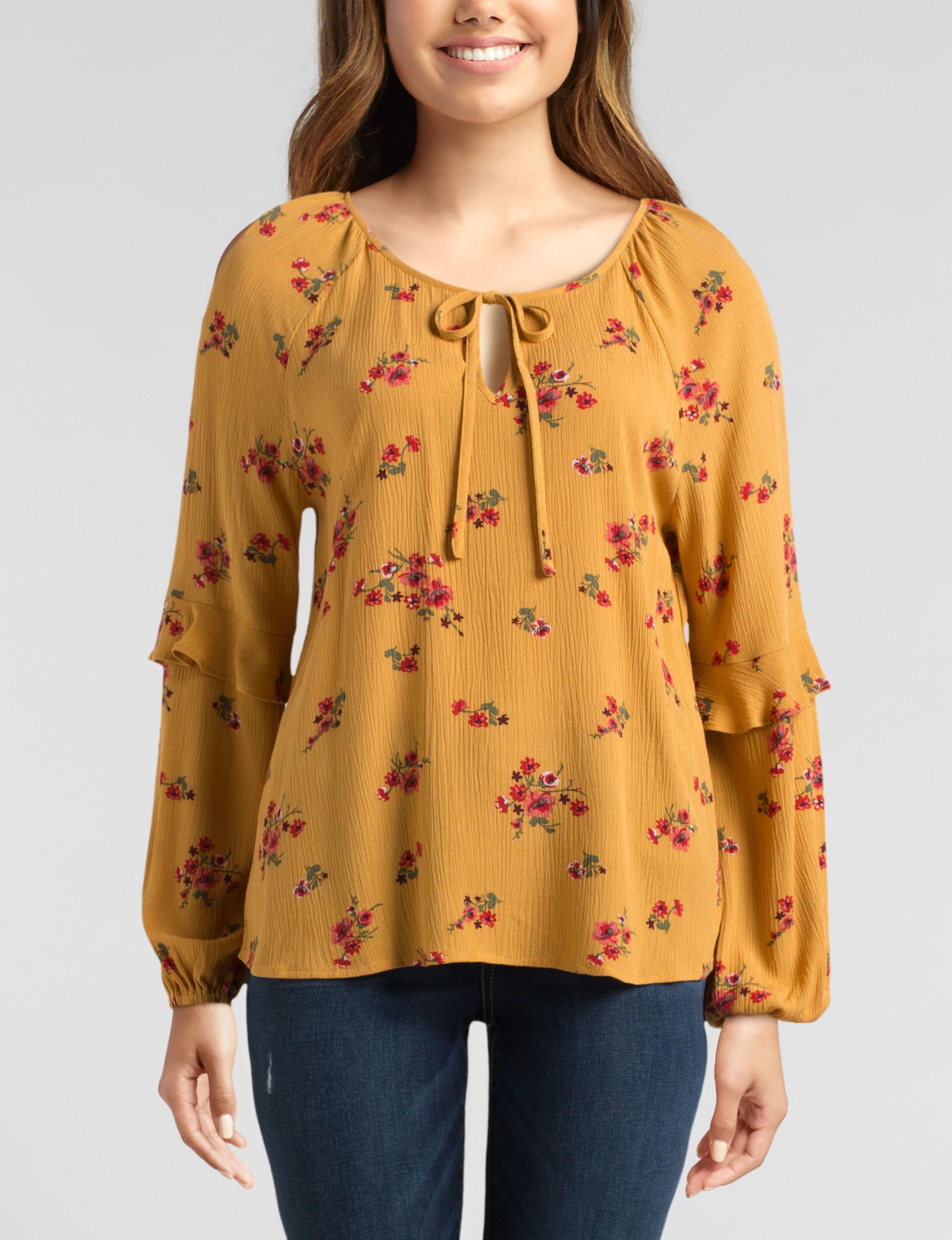 WallFlower Mustard Shirts & Blouses
