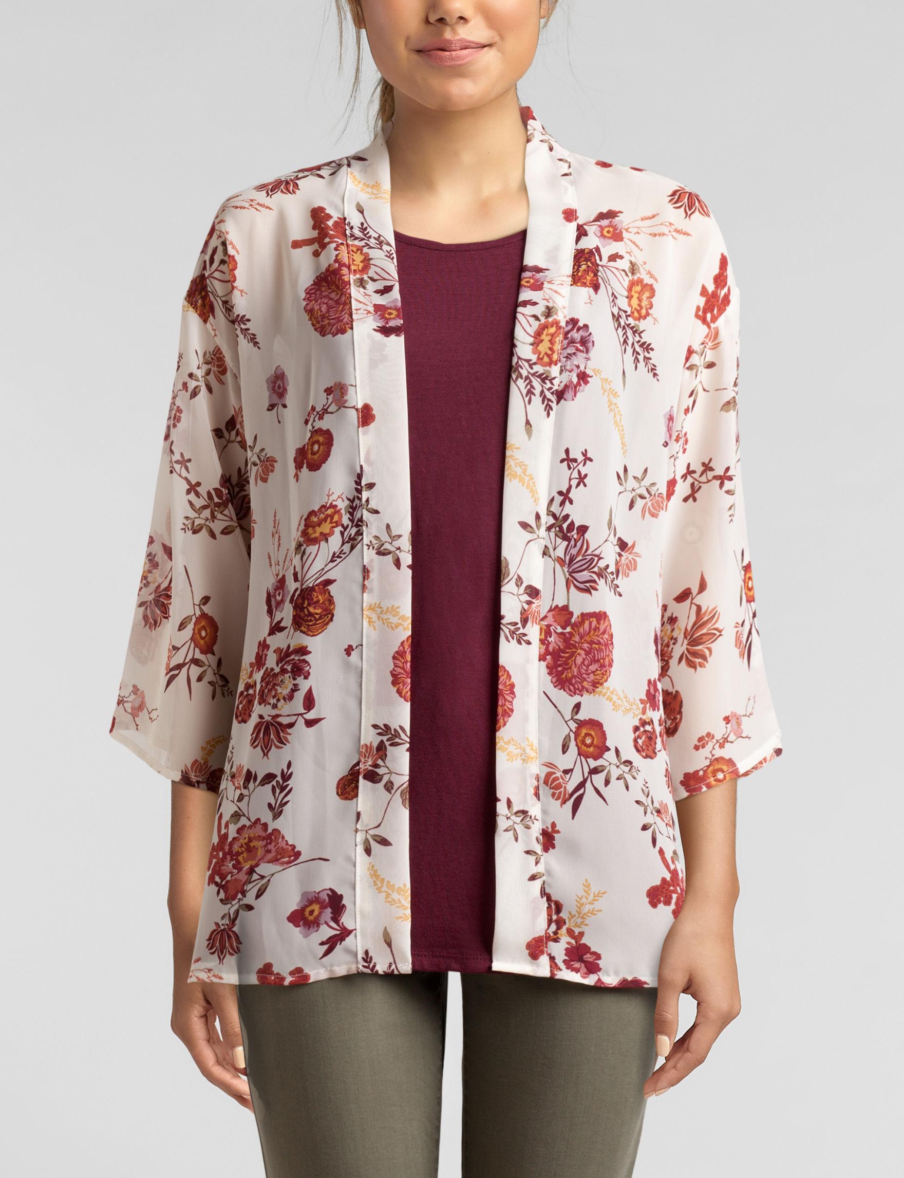 WallFlower Ivory Floral Kimonos & Toppers