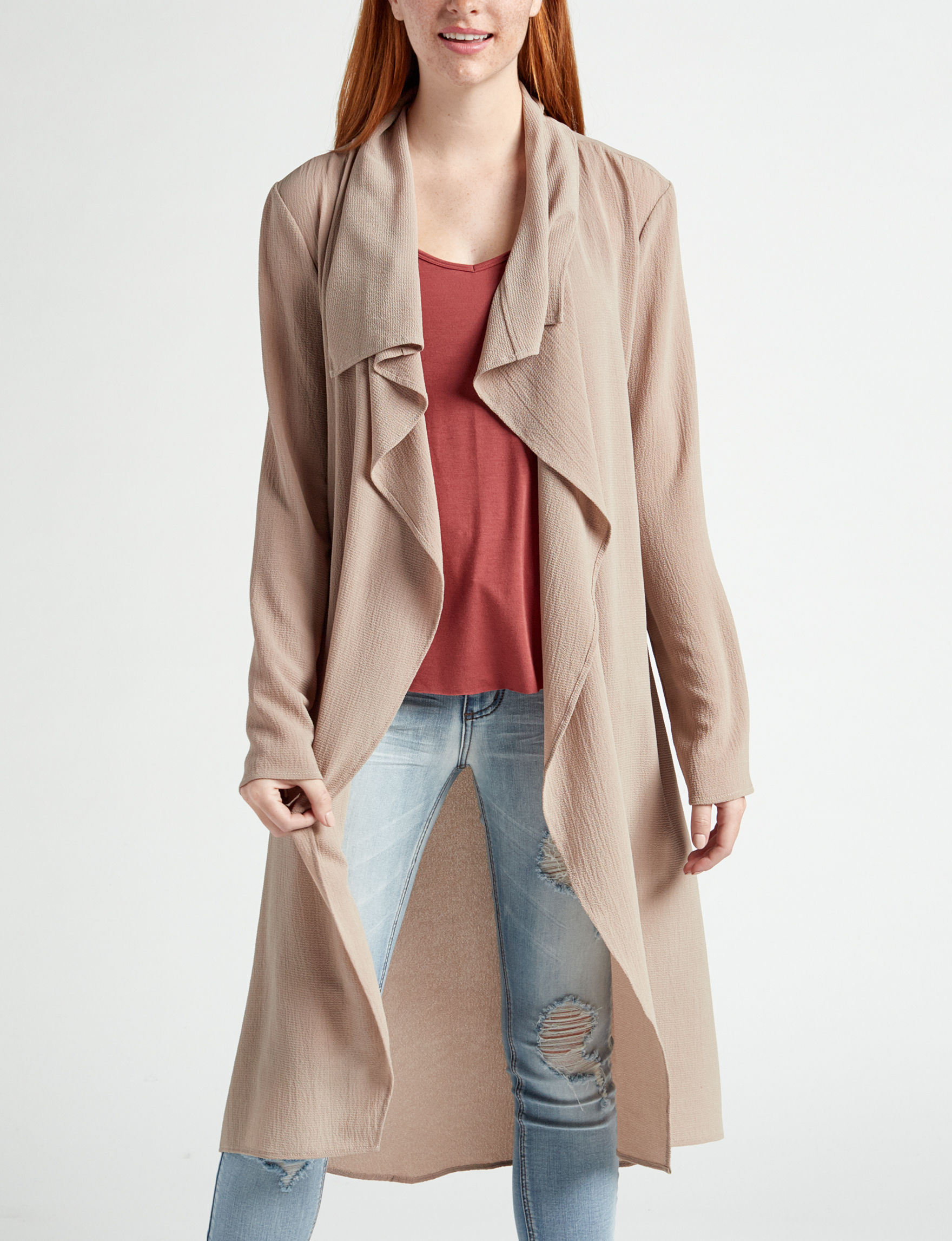 Justify Taupe Lightweight Jackets & Blazers