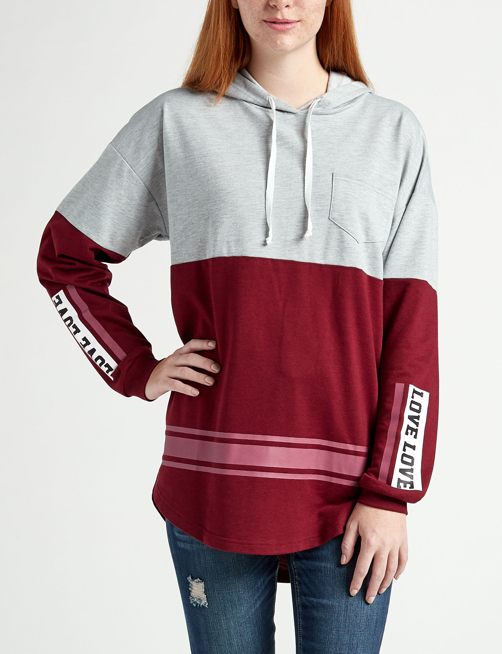 Justify Grey / Maroon Pull-overs