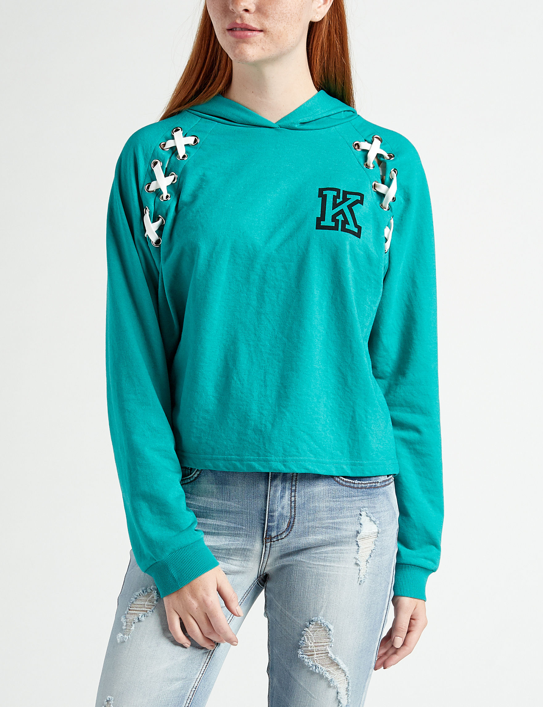 Justify Teal Pull-overs