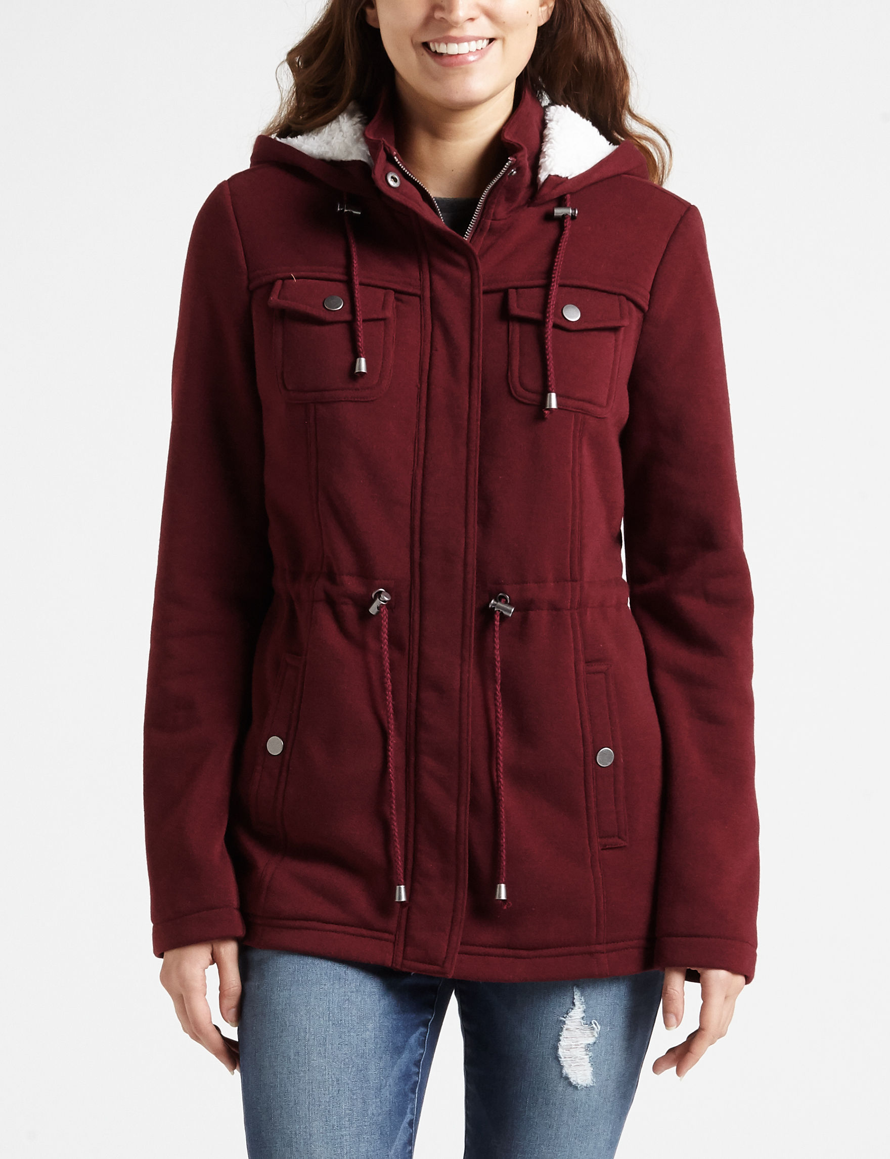 Ashley Red Fleece & Soft Shell Jackets