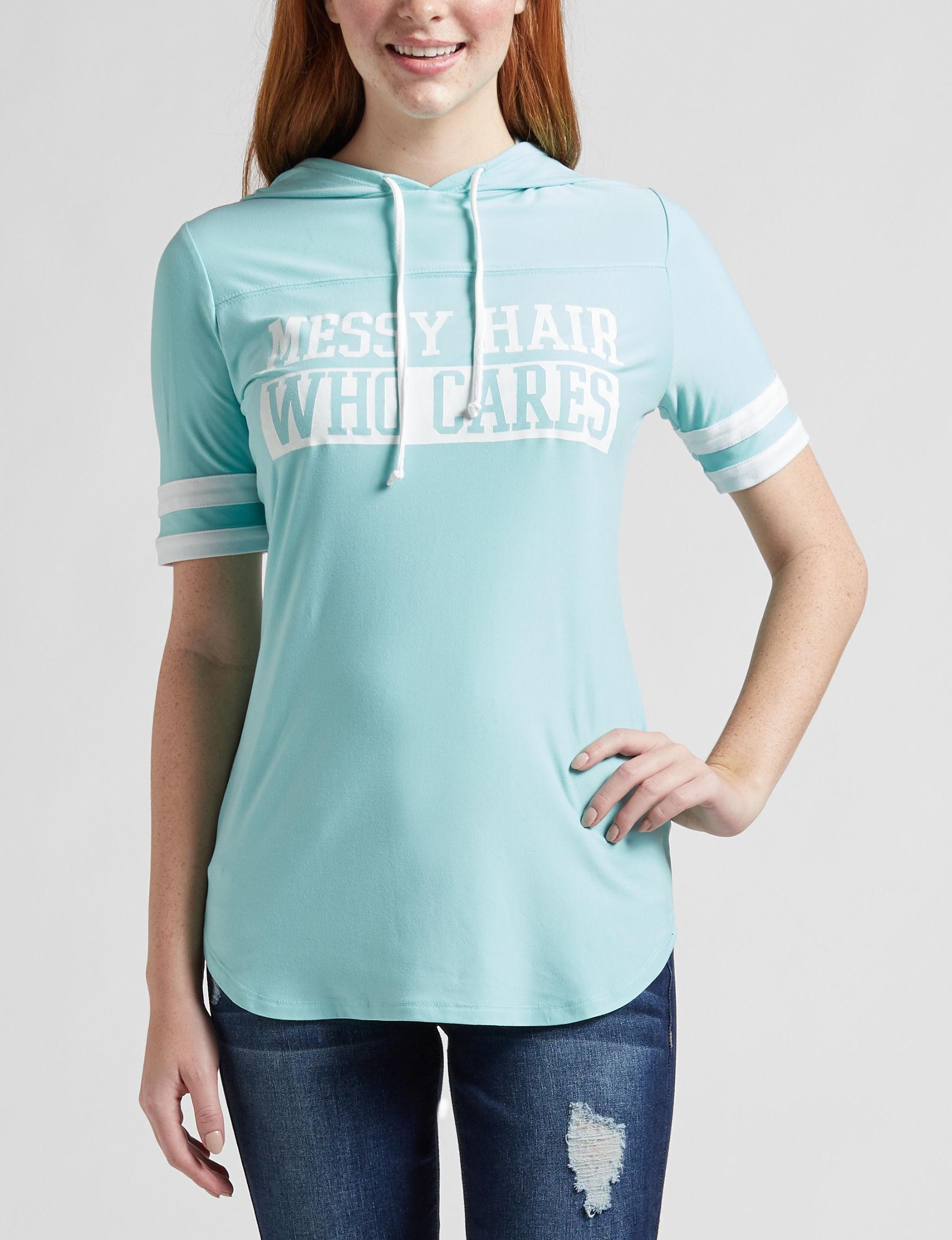 Ultra Flirt Teal Shirts & Blouses