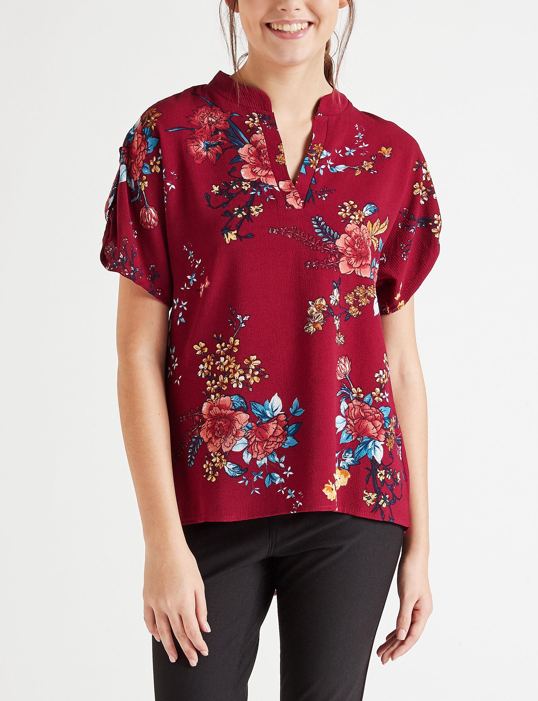 Wishful Park Maroon Shirts & Blouses
